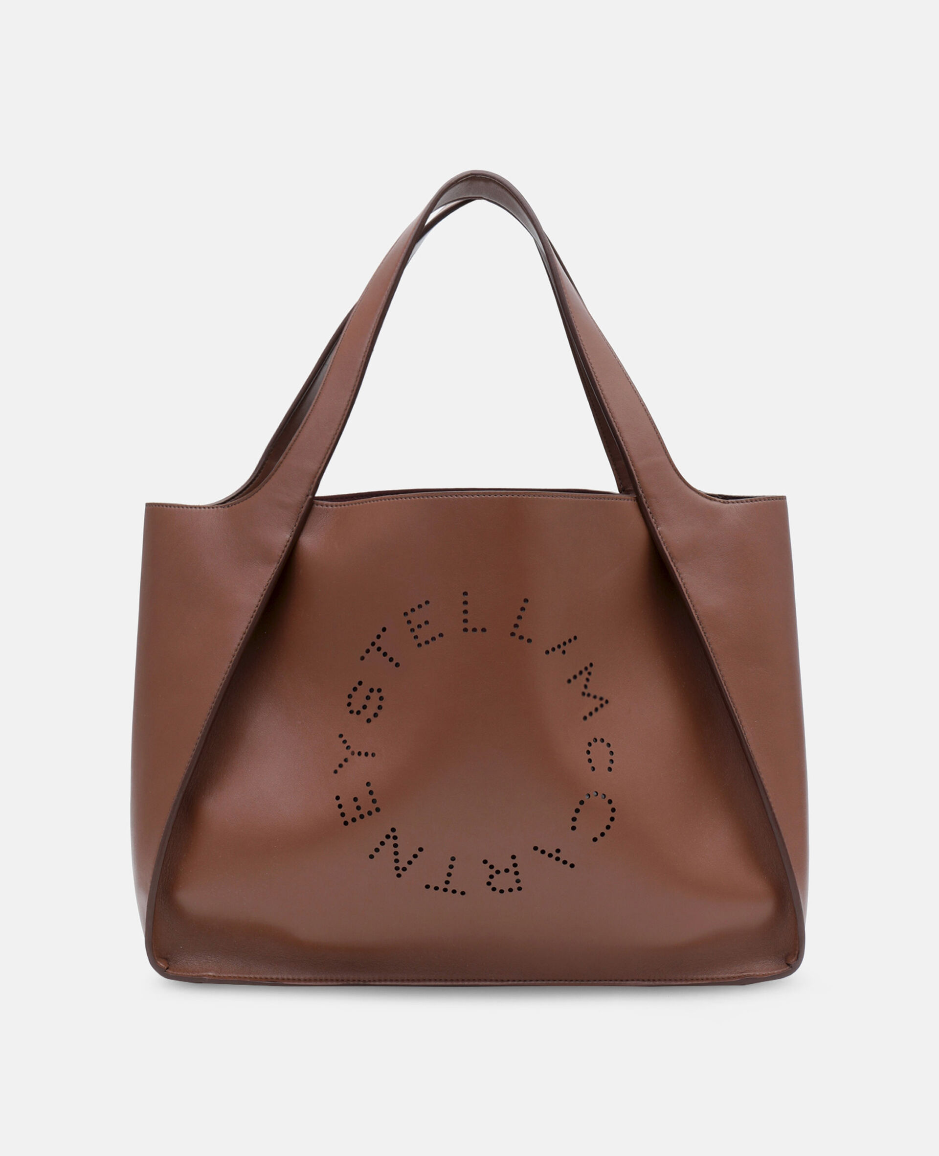 Stella Logo Tote Bag-Brown-large