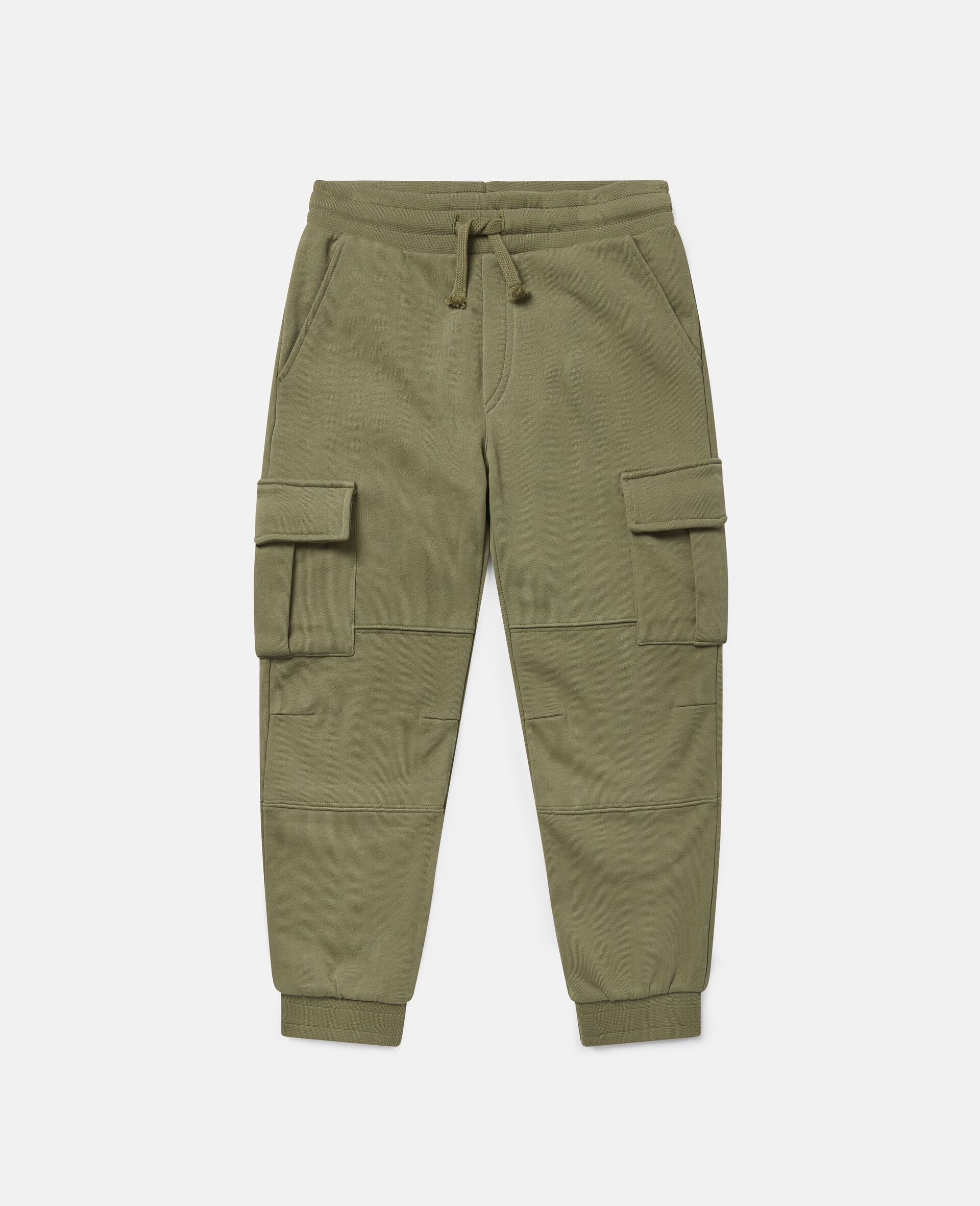 Cargo Fleece Joggers-Green-large image number 0