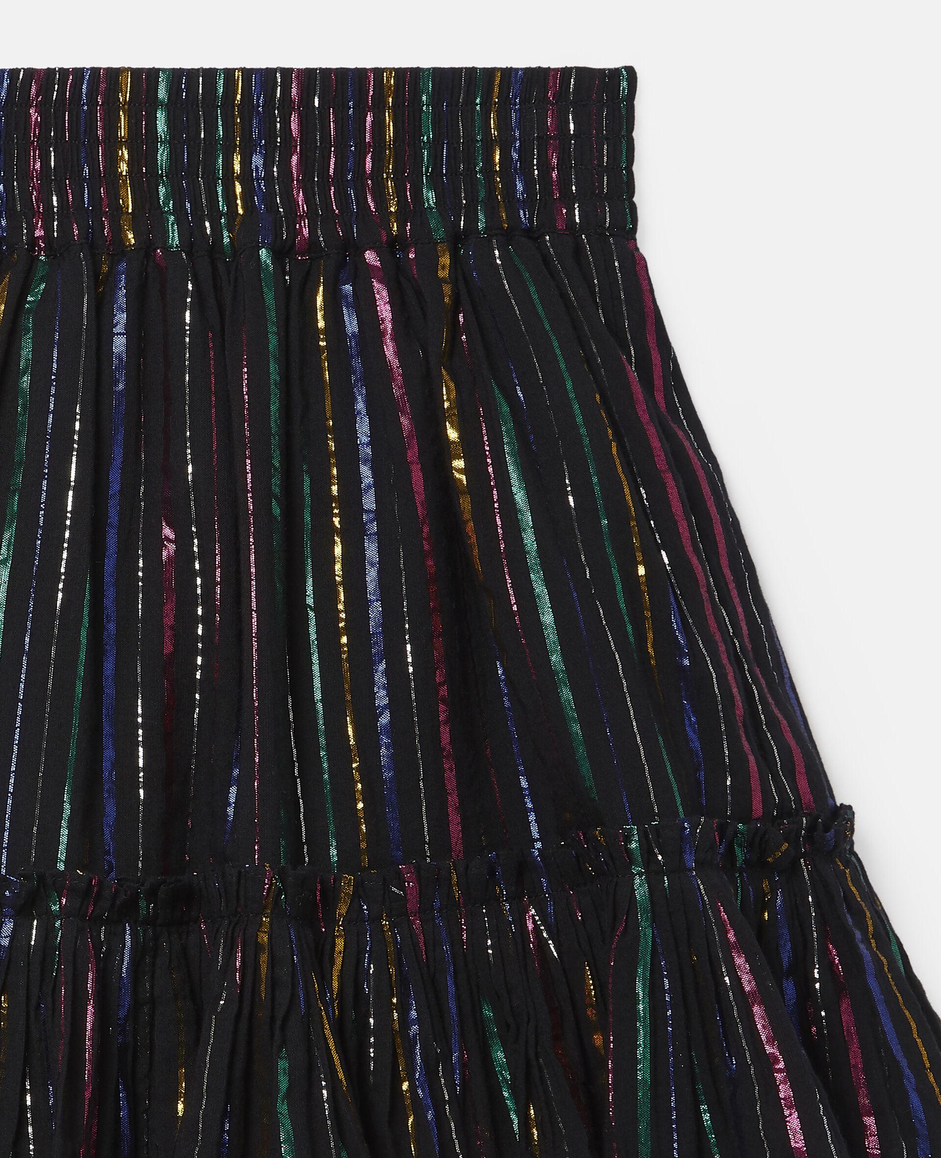 Rock aus Baumwolle mit Lurex-Streifen in Regenbogenfarben-Schwarz-large image number 1