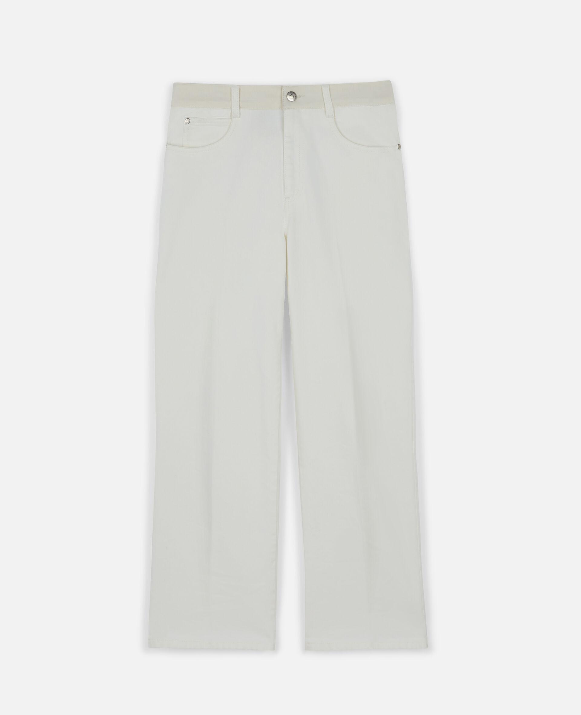 Logo Denim Trousers-White-large image number 0