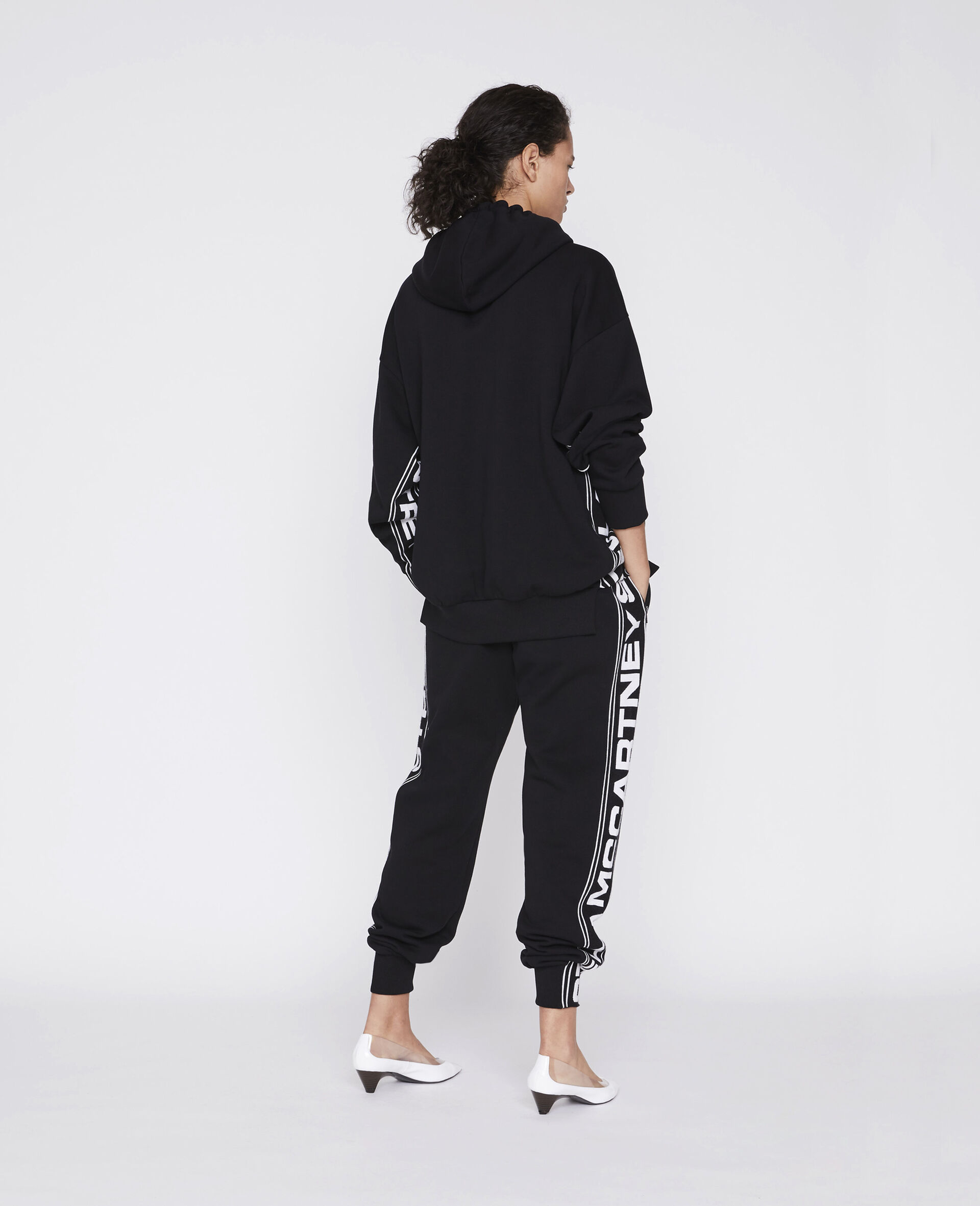 23 OBS Knitted Hoodie-Black-large image number 2