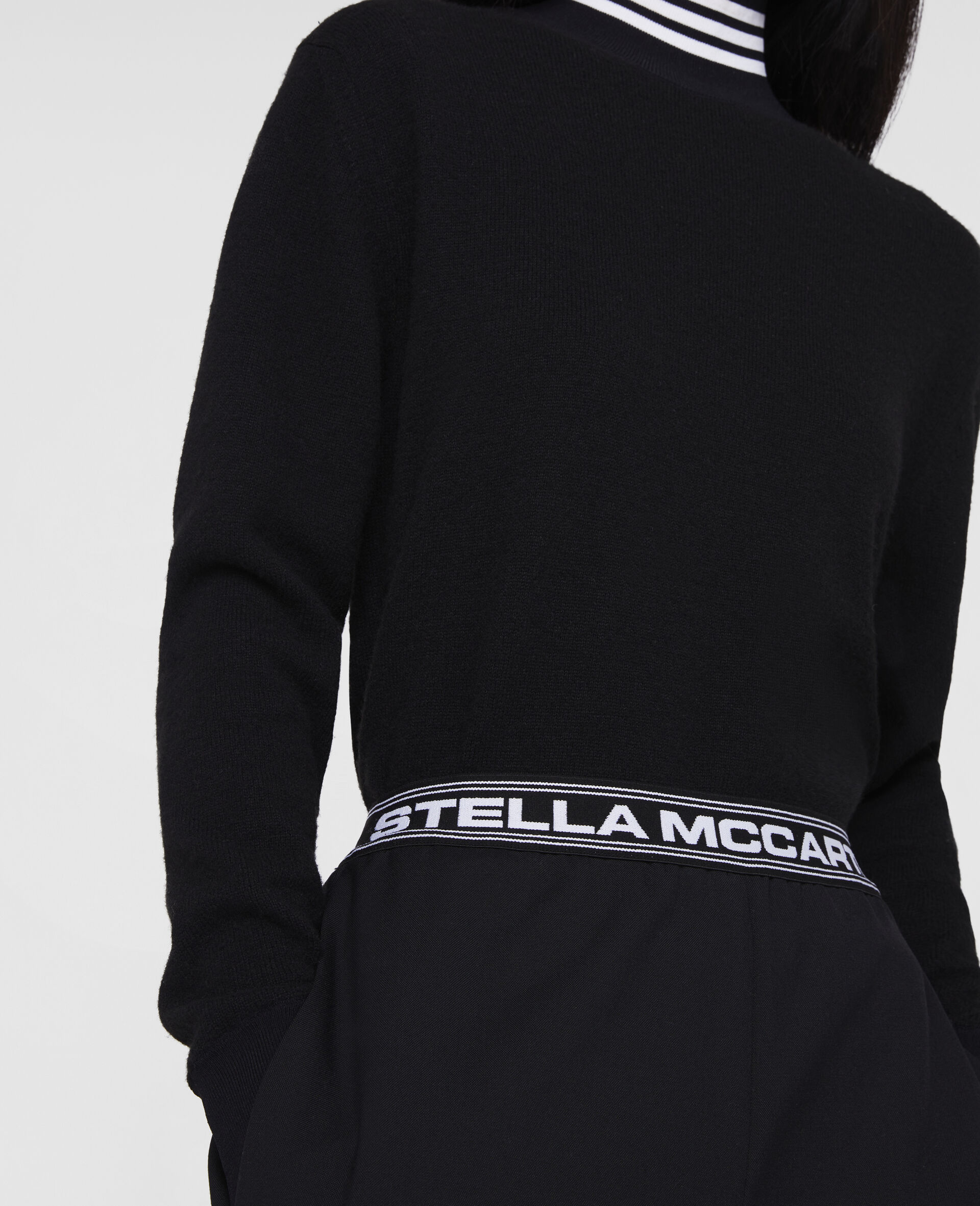 Stella Logo Tailored Trousers -Black-large image number 3