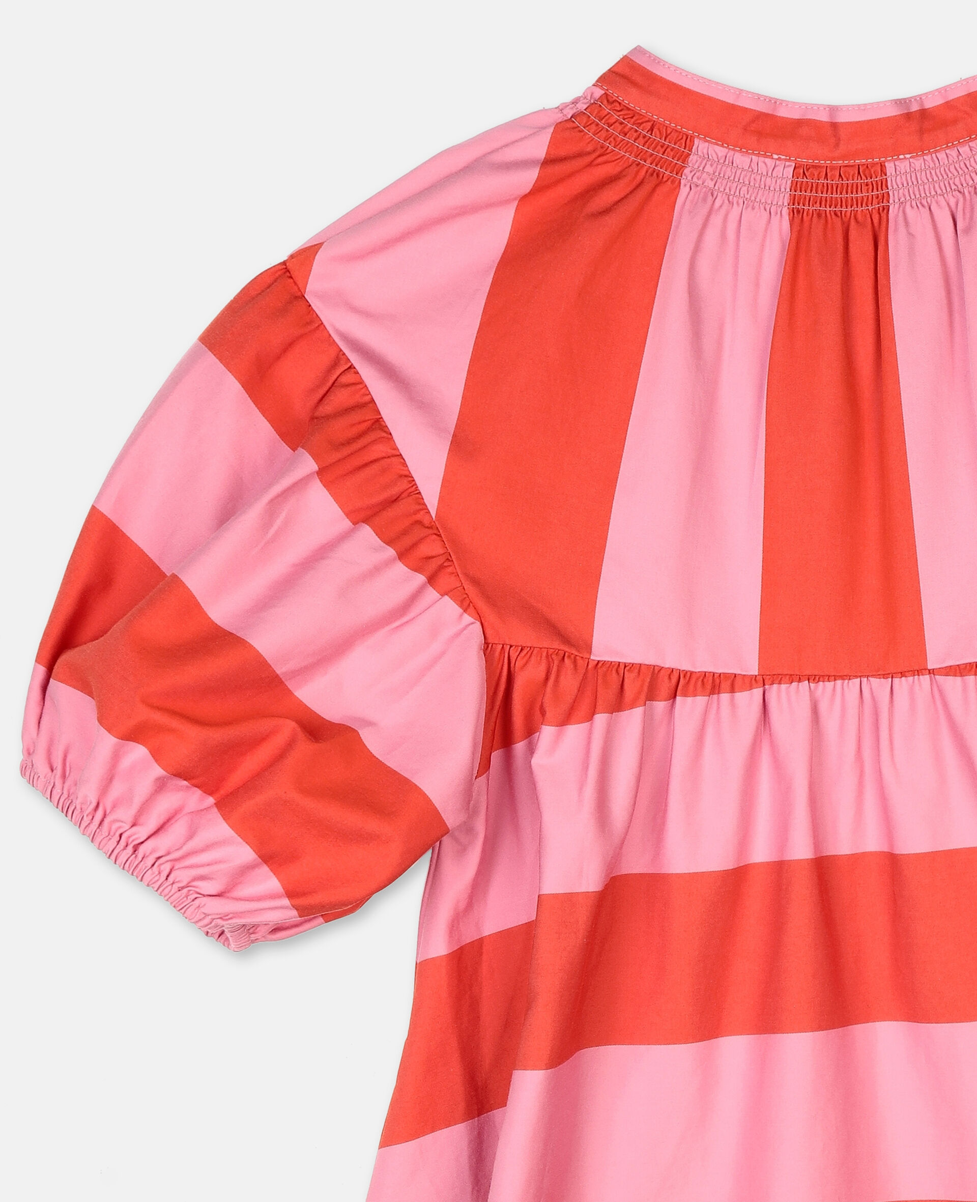 Striped Cotton Dress -Pink-large image number 2