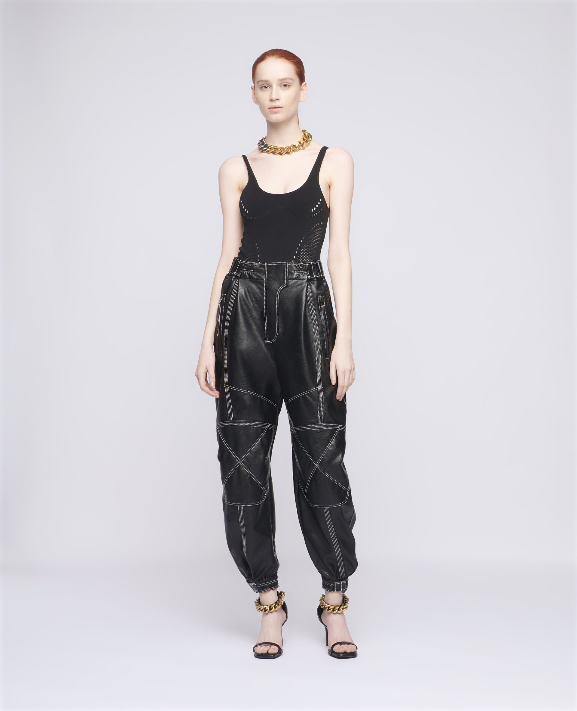 Lacey Trousers-Black-large image number 1