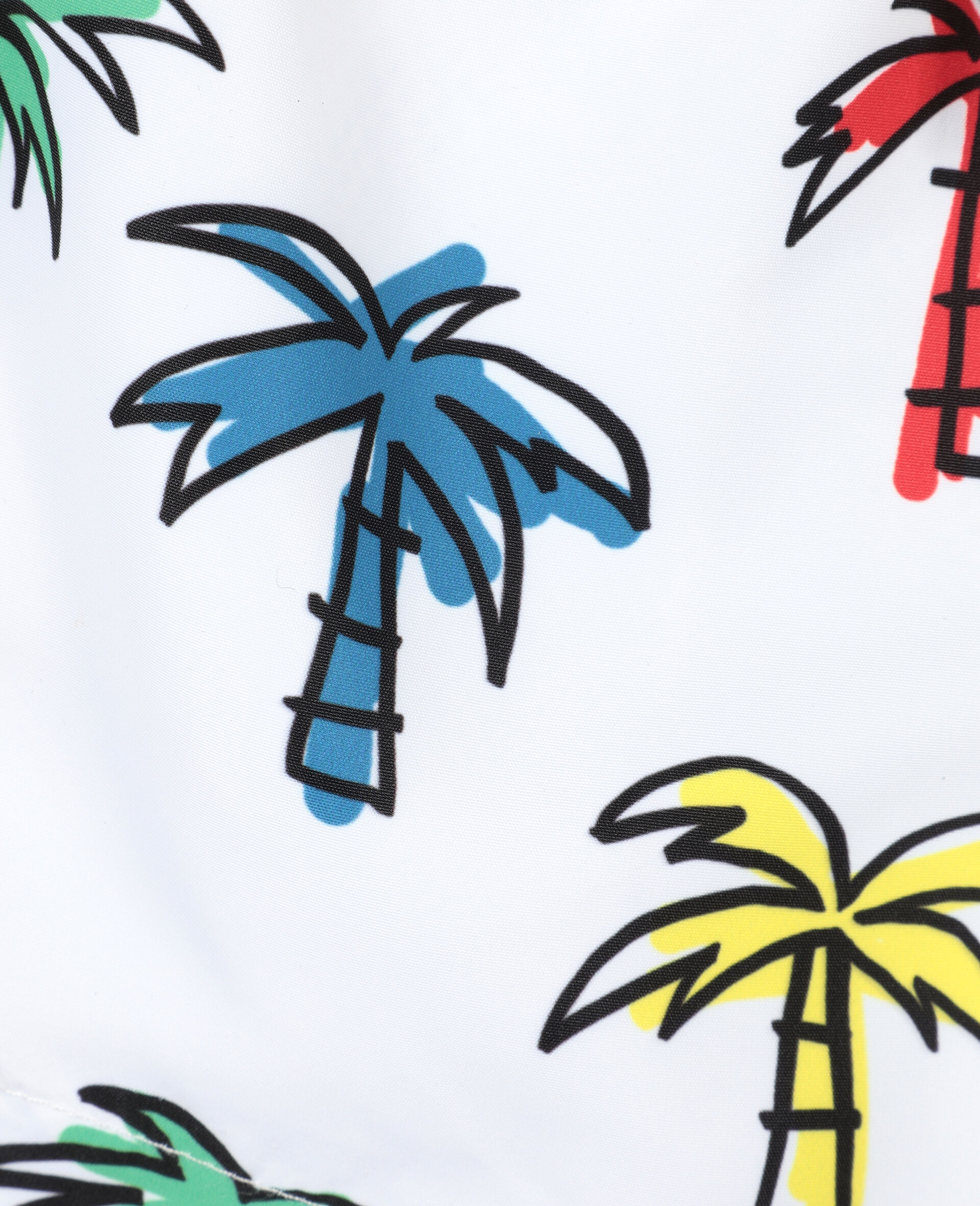 Doodly Palm Trees Swim Shorts-Multicolour-large image number 1