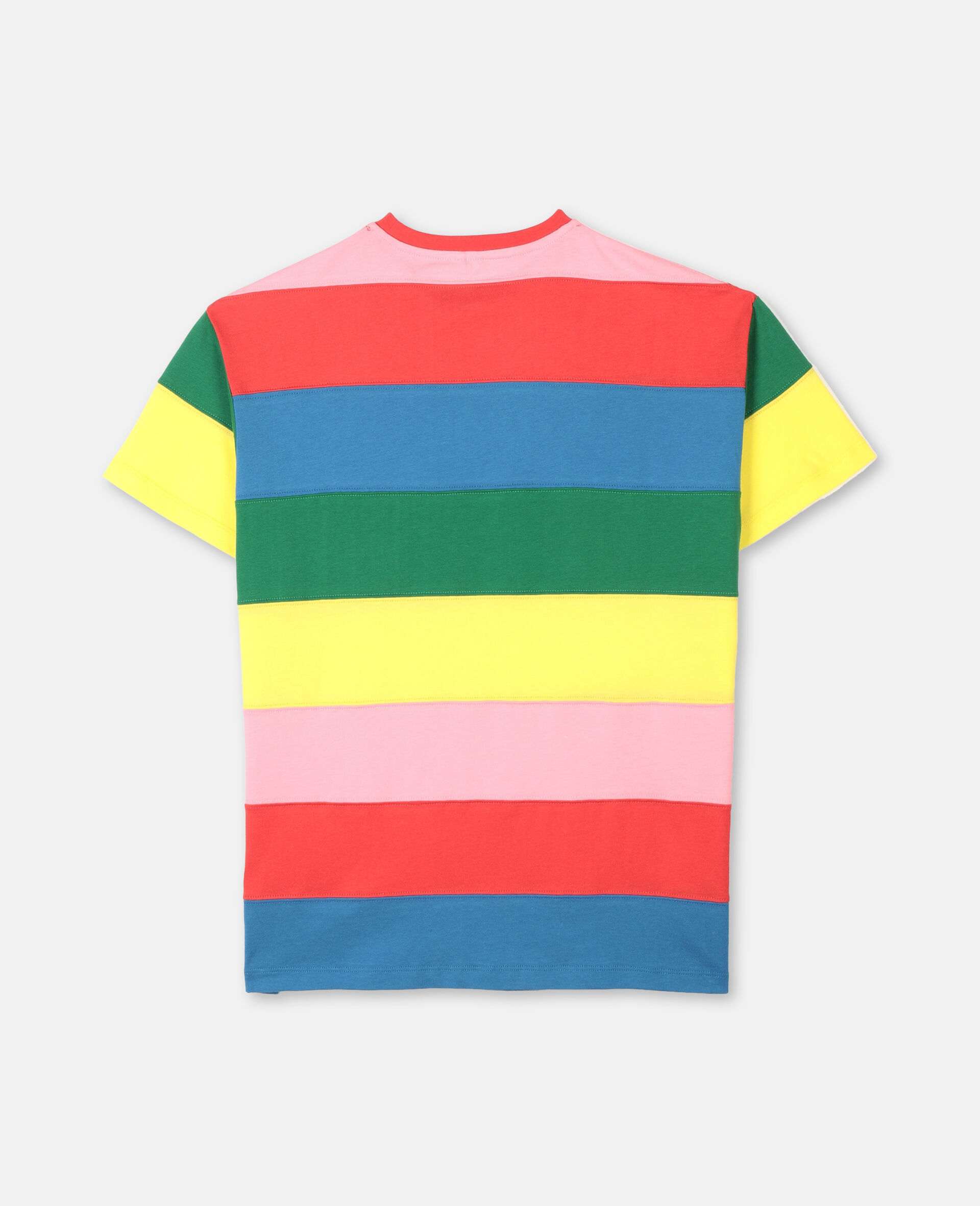 Striped Cotton Dress -Multicoloured-large image number 3