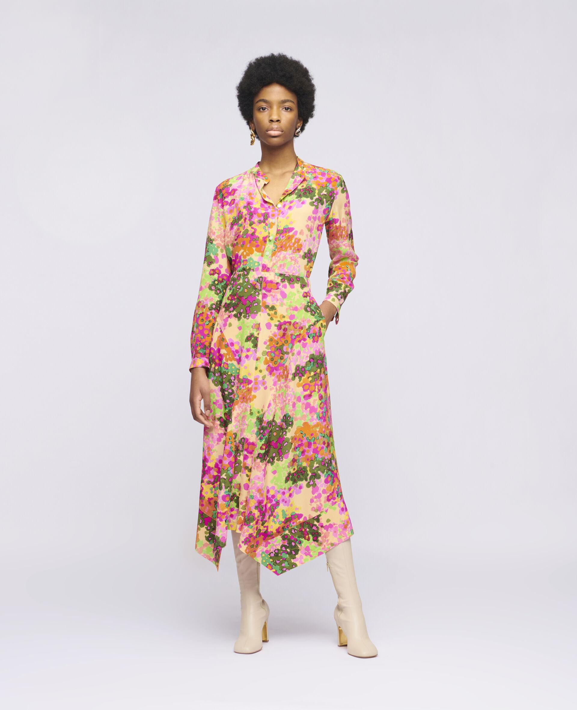 Naya Silk Skirt-Multicolour-large image number 1