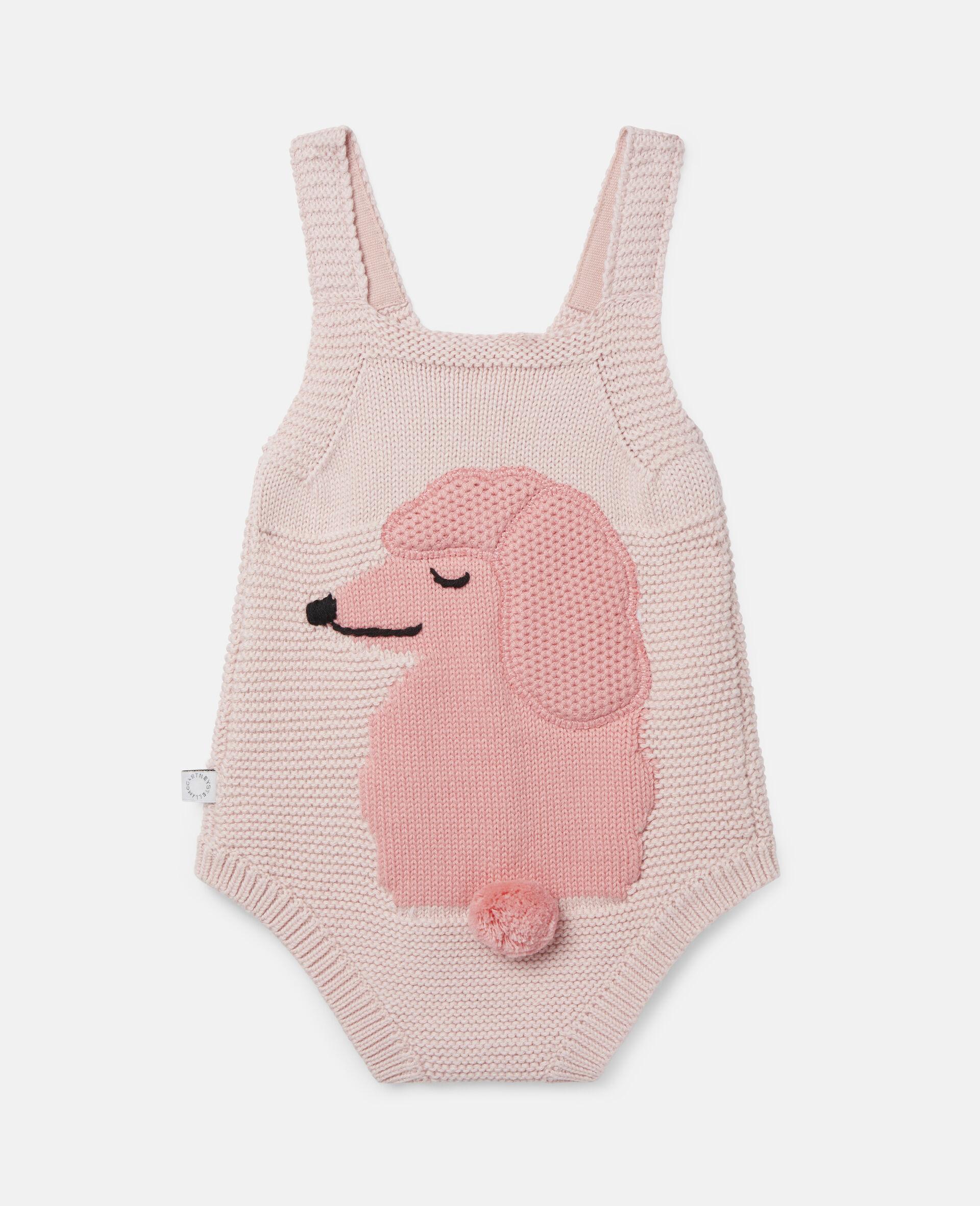 Poodle Knit Intarsia Body-Pink-large image number 3