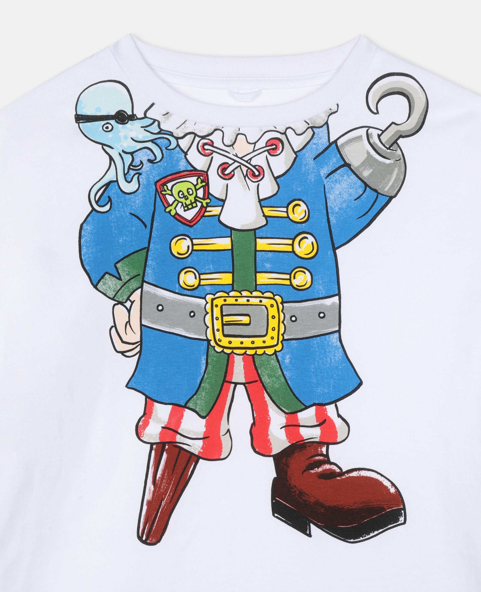 错视效果 Pirate 棉质 T 恤 -白色-large image number 1