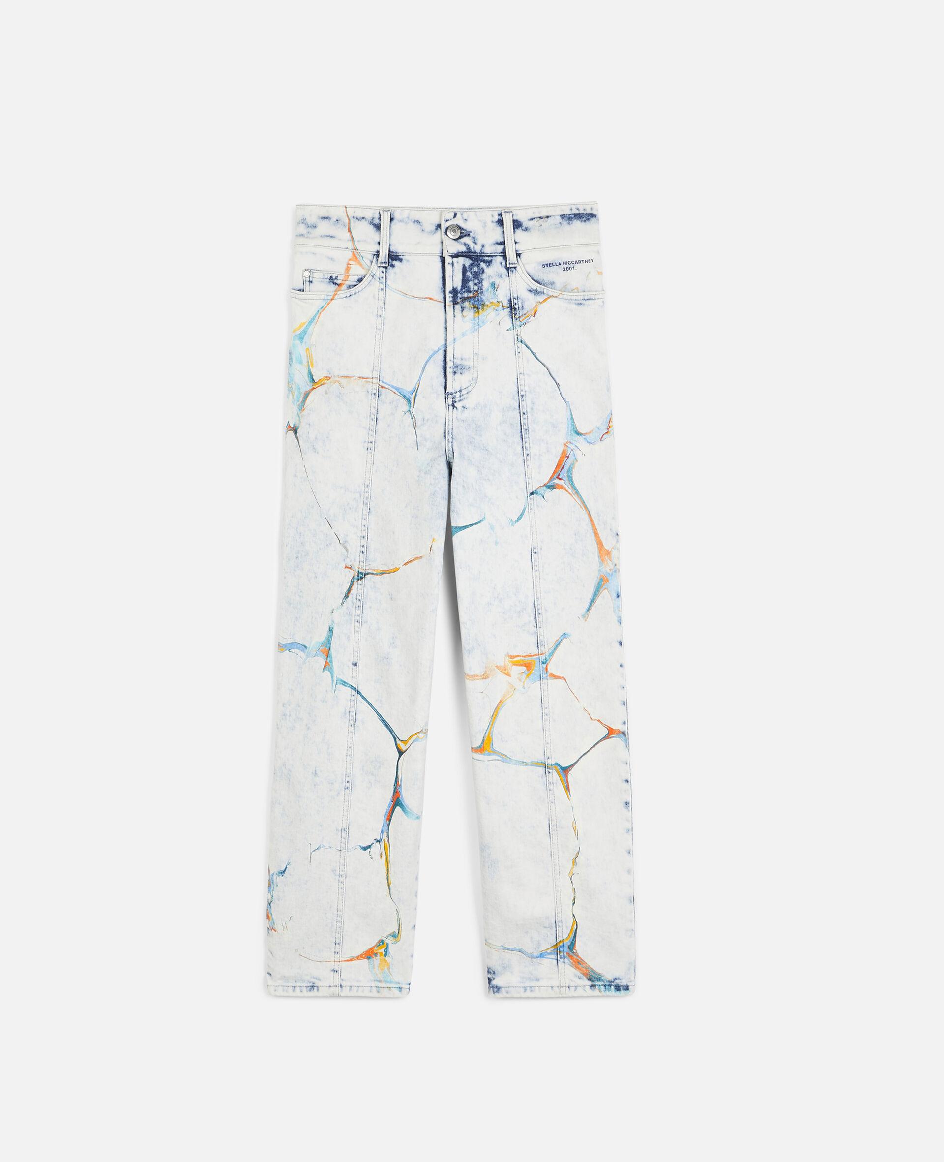 直筒牛仔裤-蓝色-large image number 0