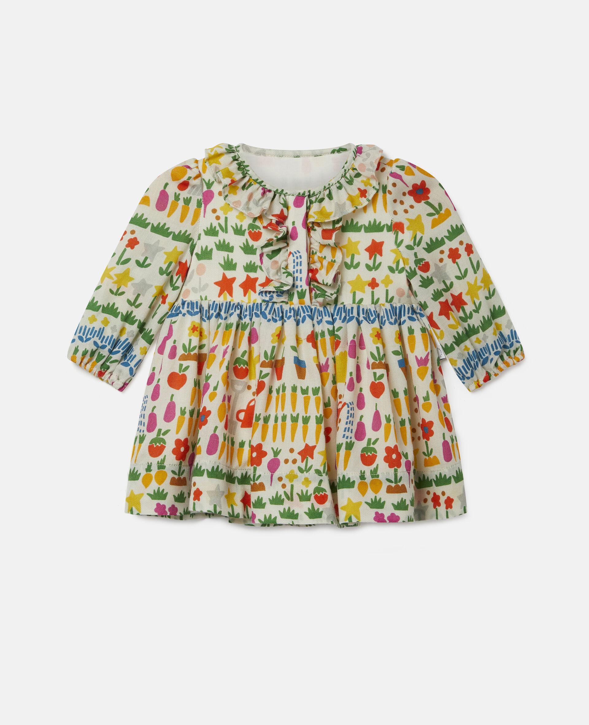 Garden Wool Dress-Multicolour-large image number 3