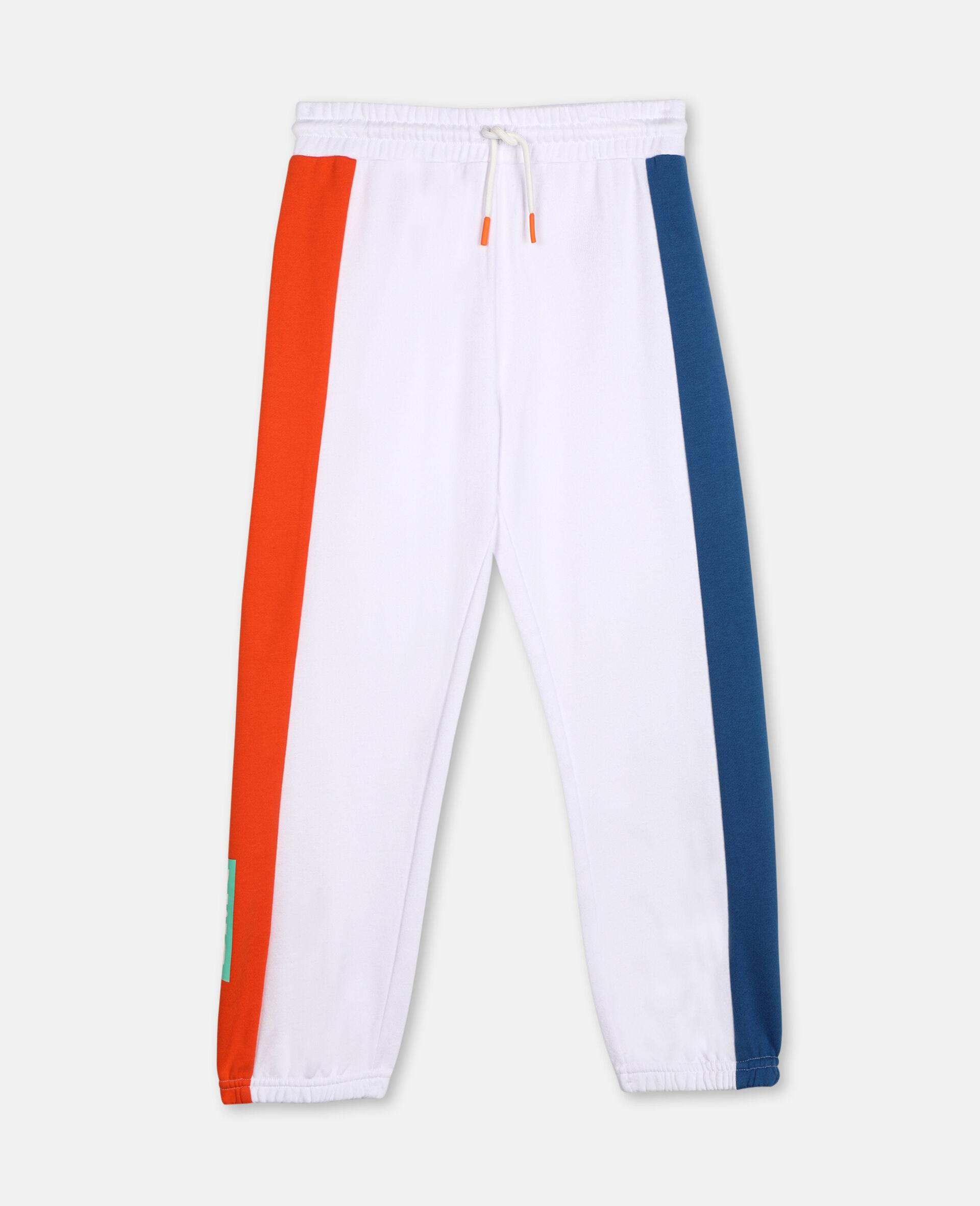 Pantalon de survêtement en coton avec logo -Blanc-large image number 0