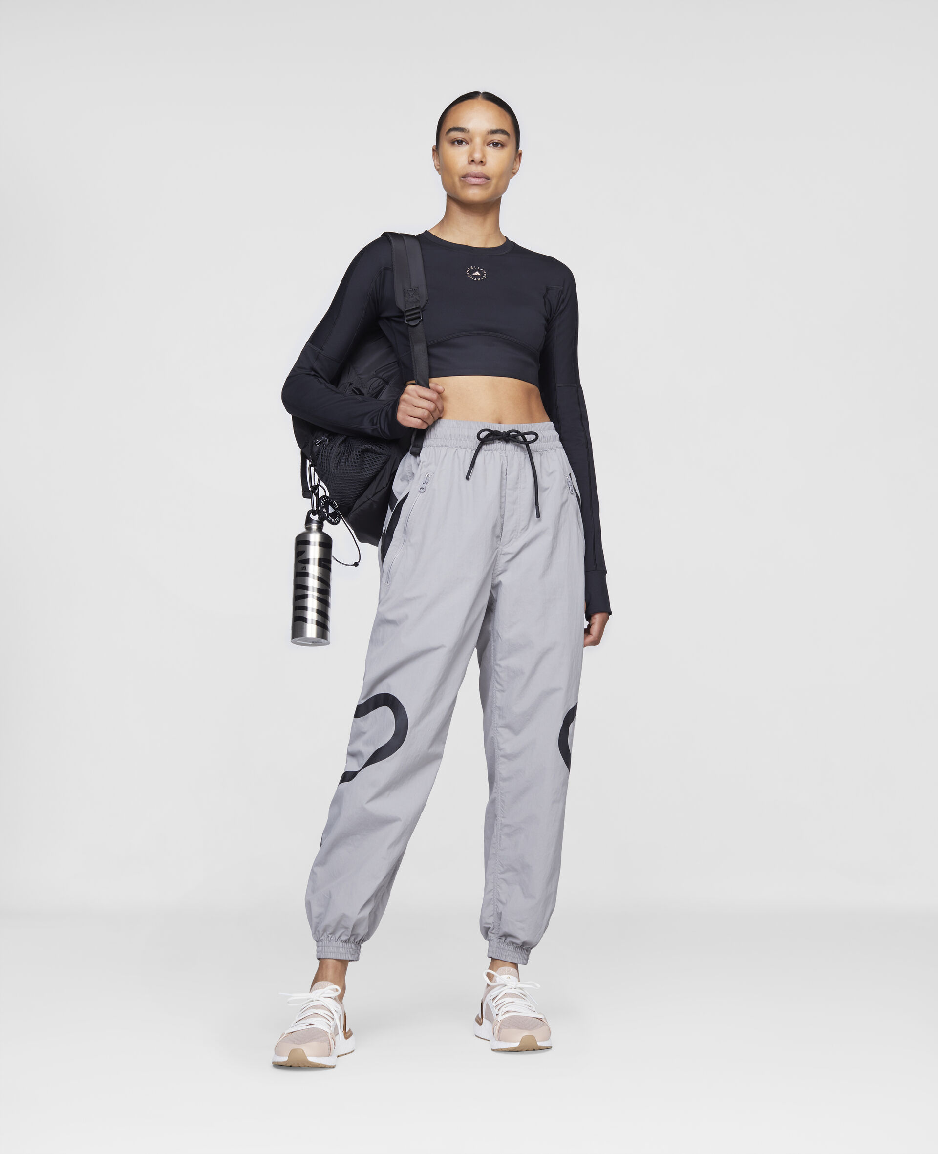 Grey Training Trousers-Grey-large image number 1