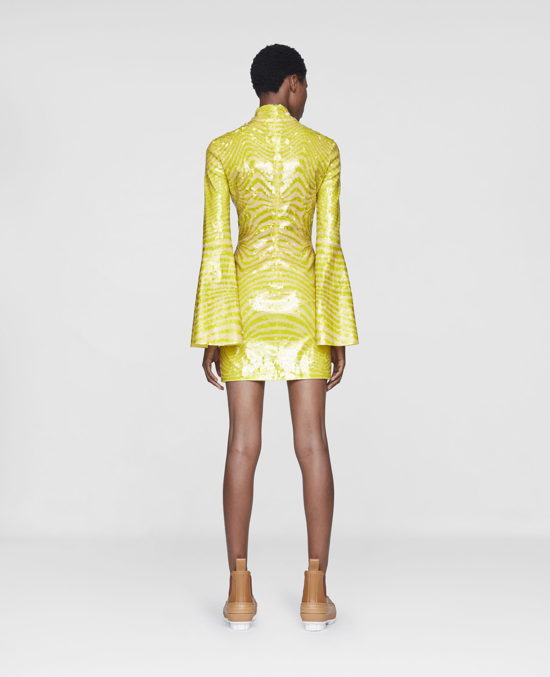Milly Mini Dress-Yellow-large image number 2