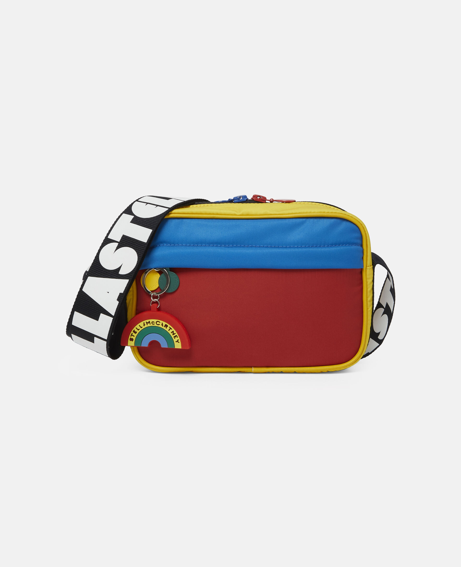 Colourblock Logo Shoulder Bag -Multicolour-large image number 0