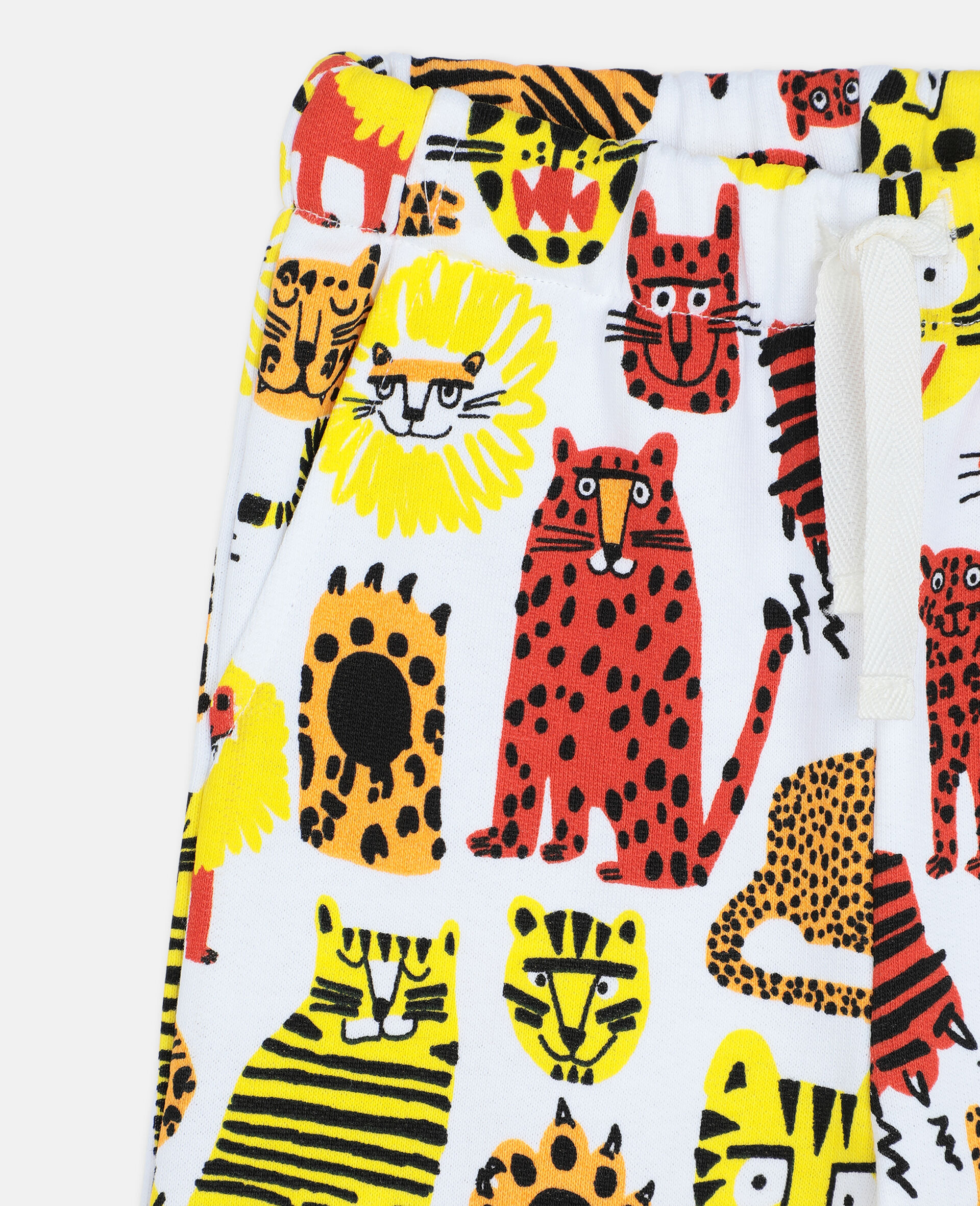 Wild Cats Cotton Joggers -Yellow-large image number 1