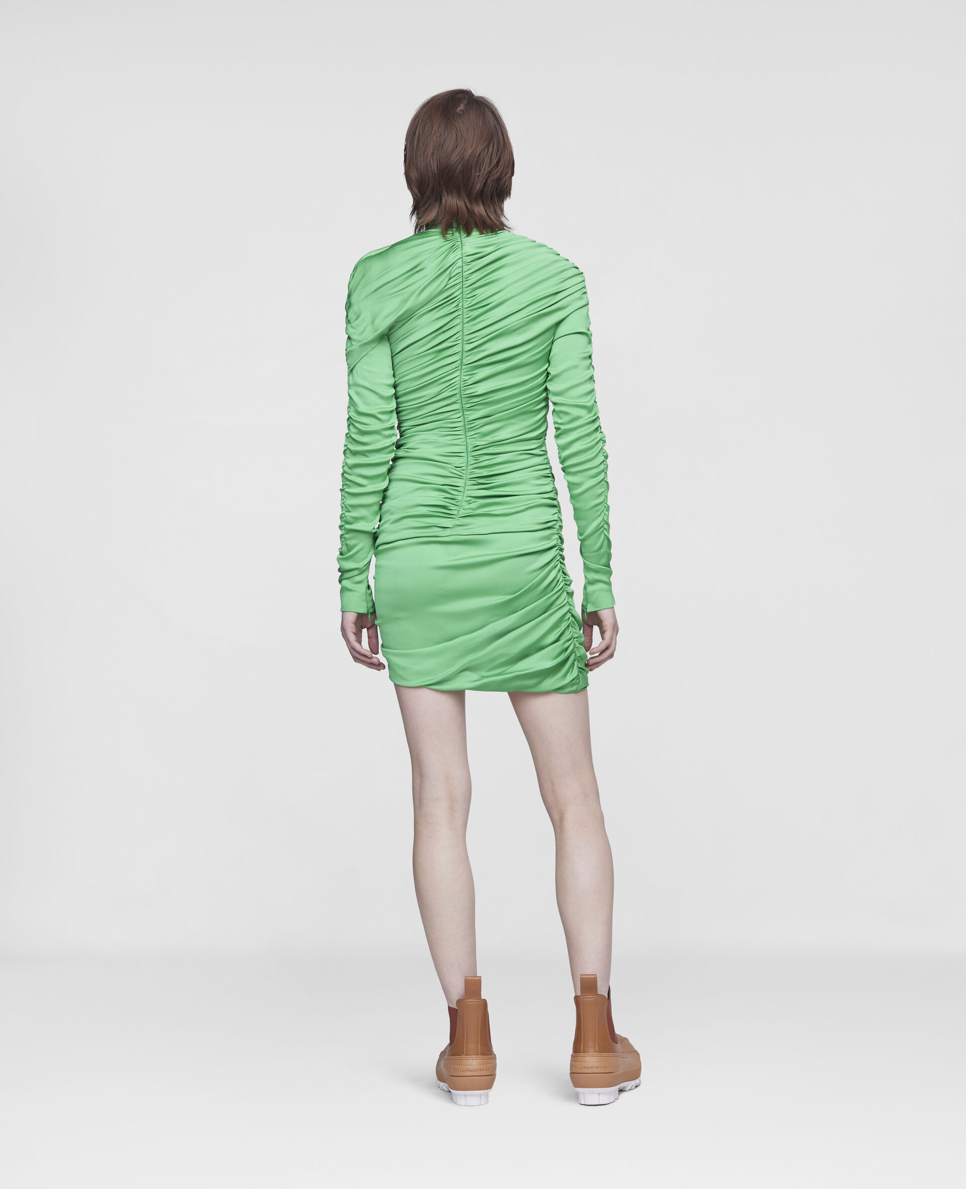 Faye Mini Dress-Green-large image number 2