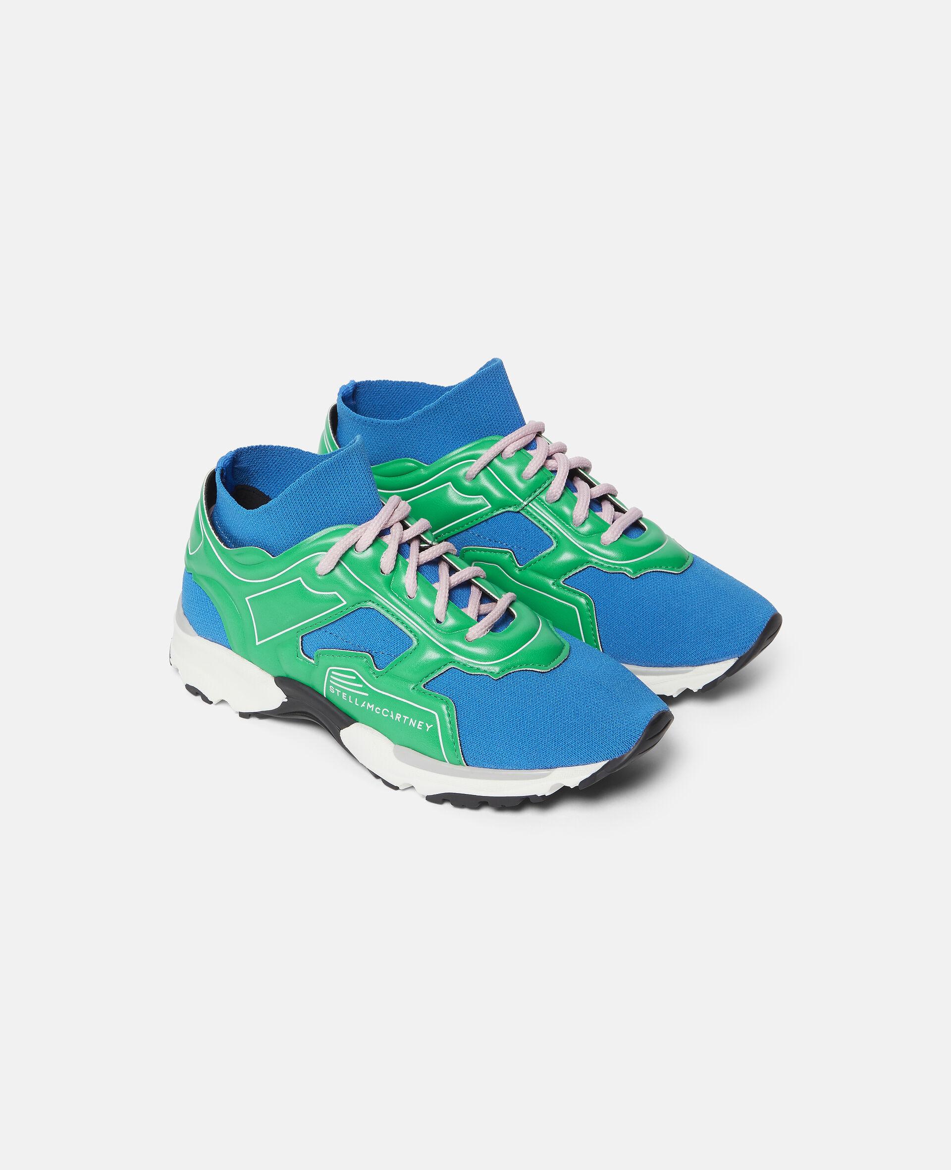 Knit Sock Sport Sneakers-Blue-large image number 3