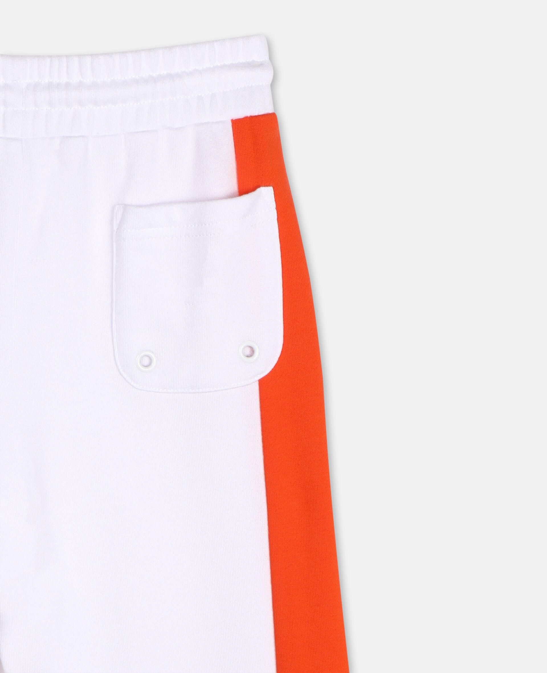 Sportliche Baumwoll-Jogginghose mit Logo -Weiß-large image number 2
