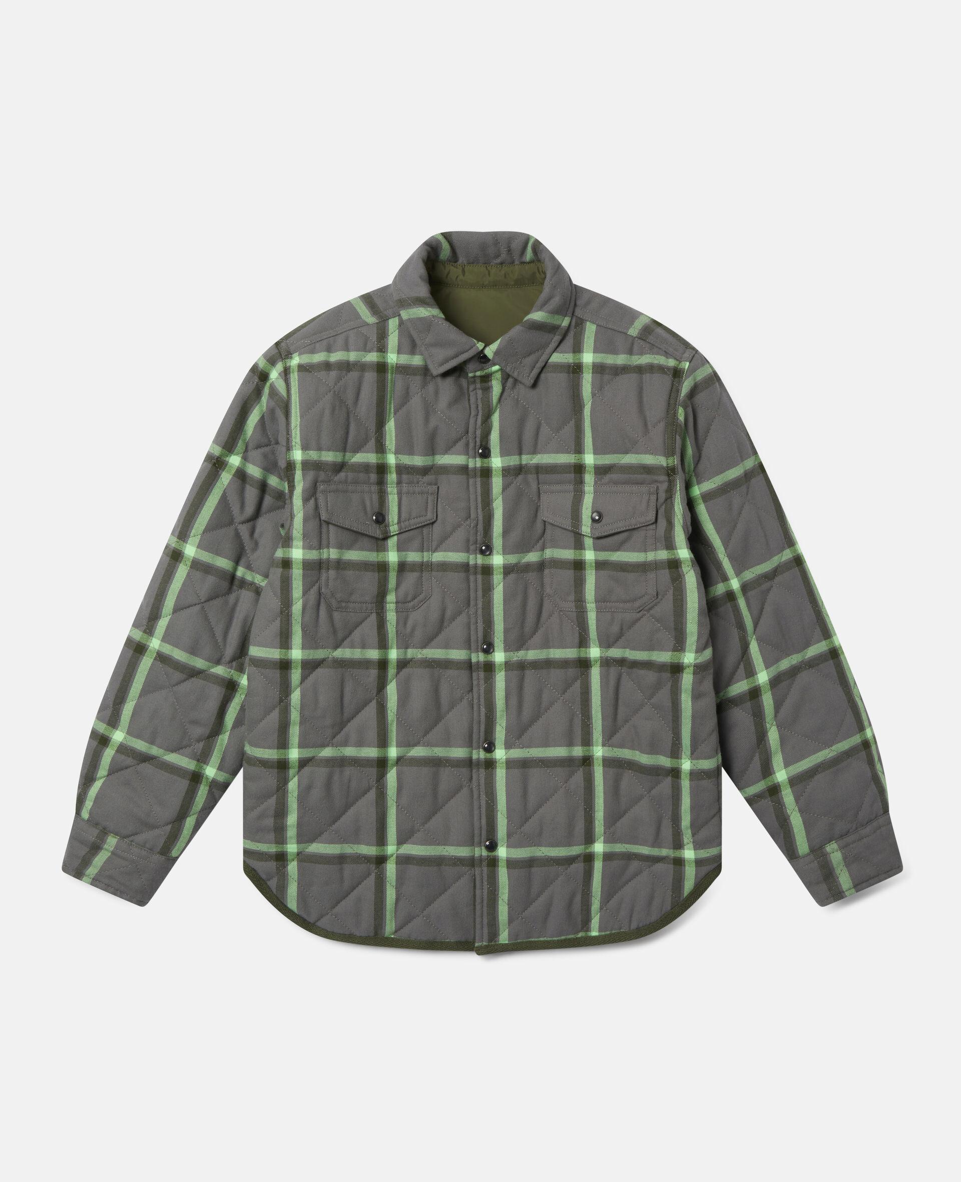 Checks Cotton Shirt-Grey-large image number 0