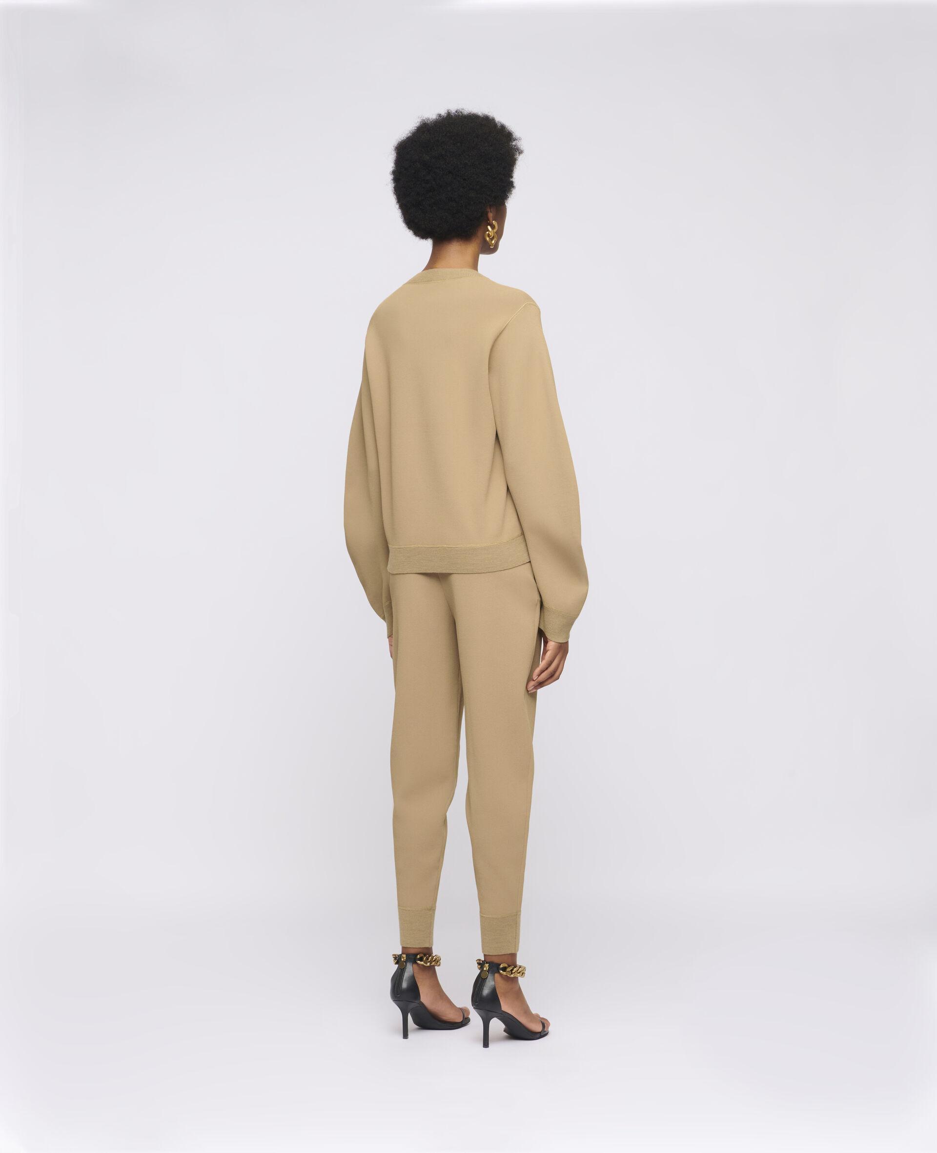 致密针织套衫-棕色-large image number 2