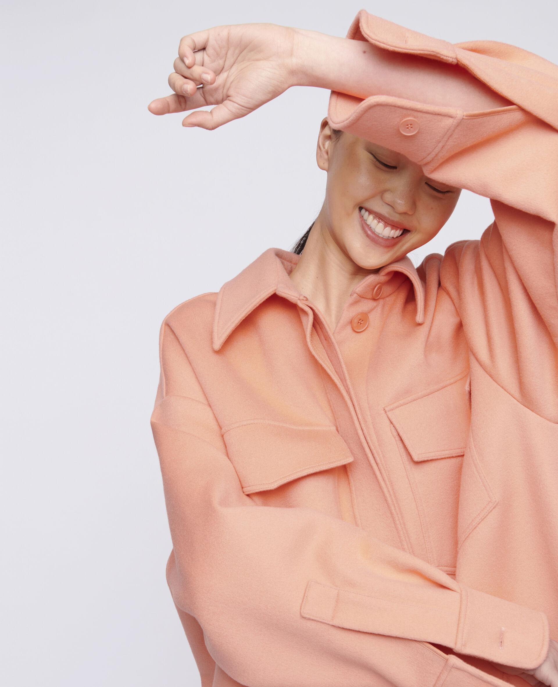 Linda Wool Coat -Orange-large image number 3