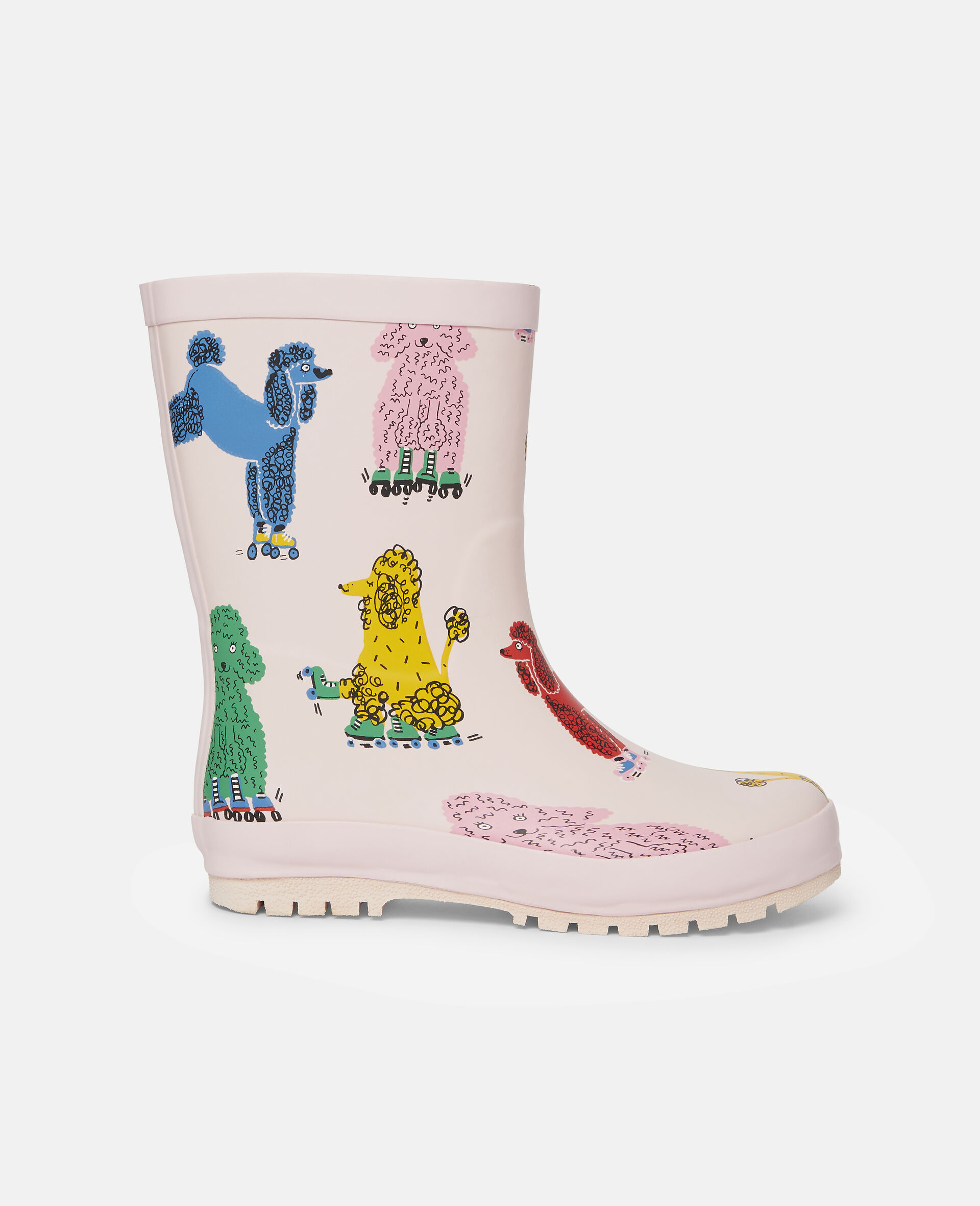 Doodle Poodles Waterproof Rainboots-Pink-large image number 0