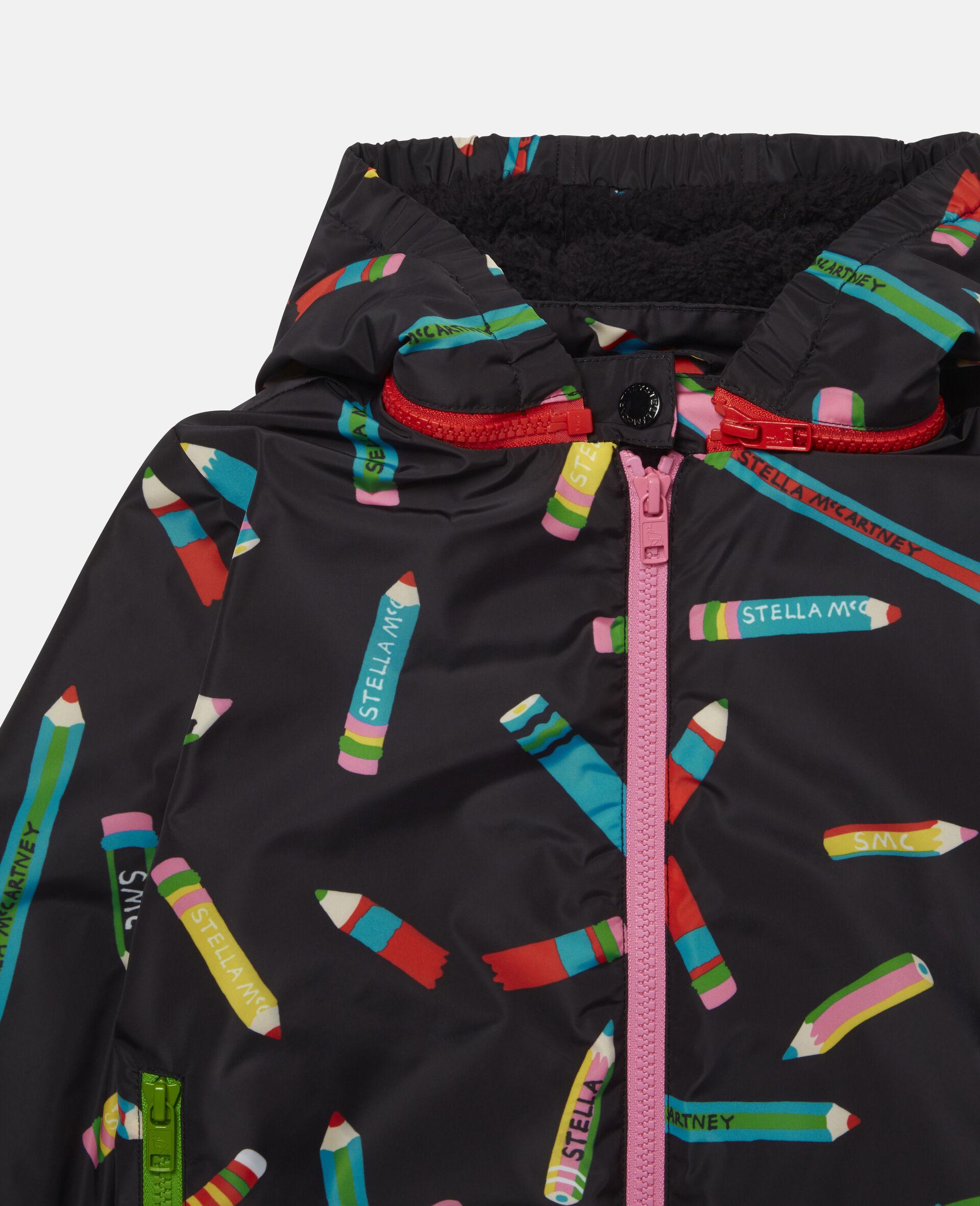 Pencils Hooded Jacket -Black-large image number 1