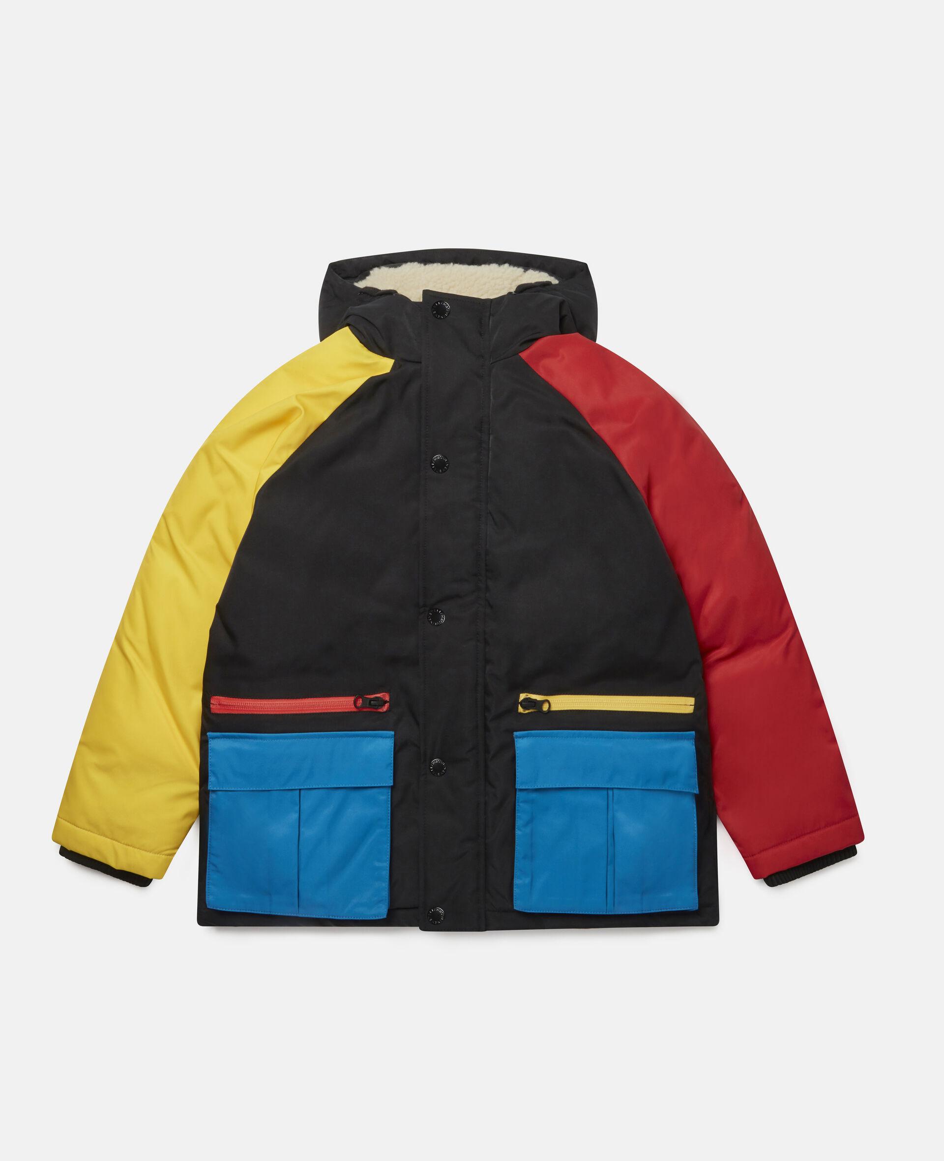 Colourblock Puffer Jacket-Multicolour-large image number 0