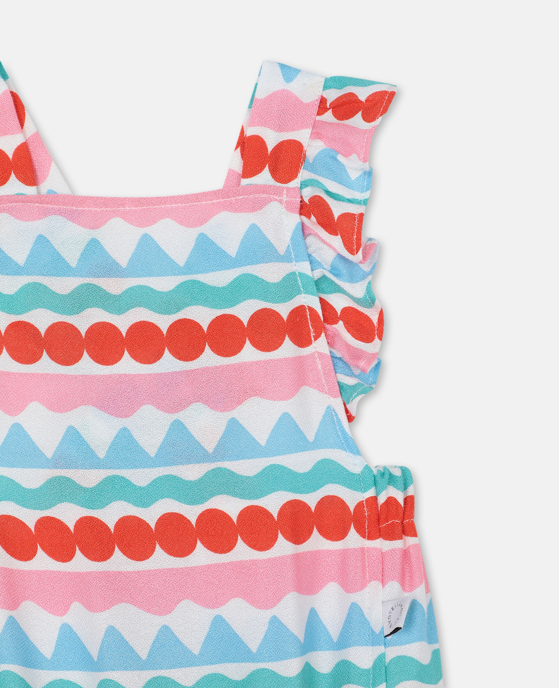 Graphic Striped Jumpsuit-Multicoloured-large image number 1