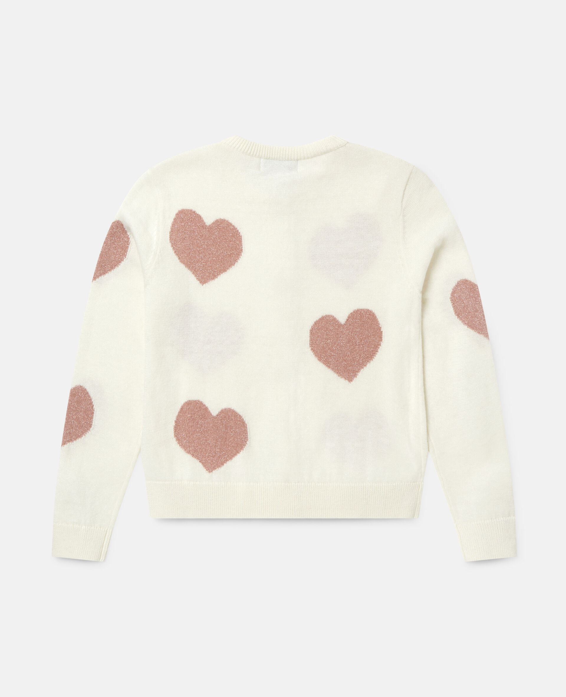 Hearts Knit Cardigan -White-large image number 3