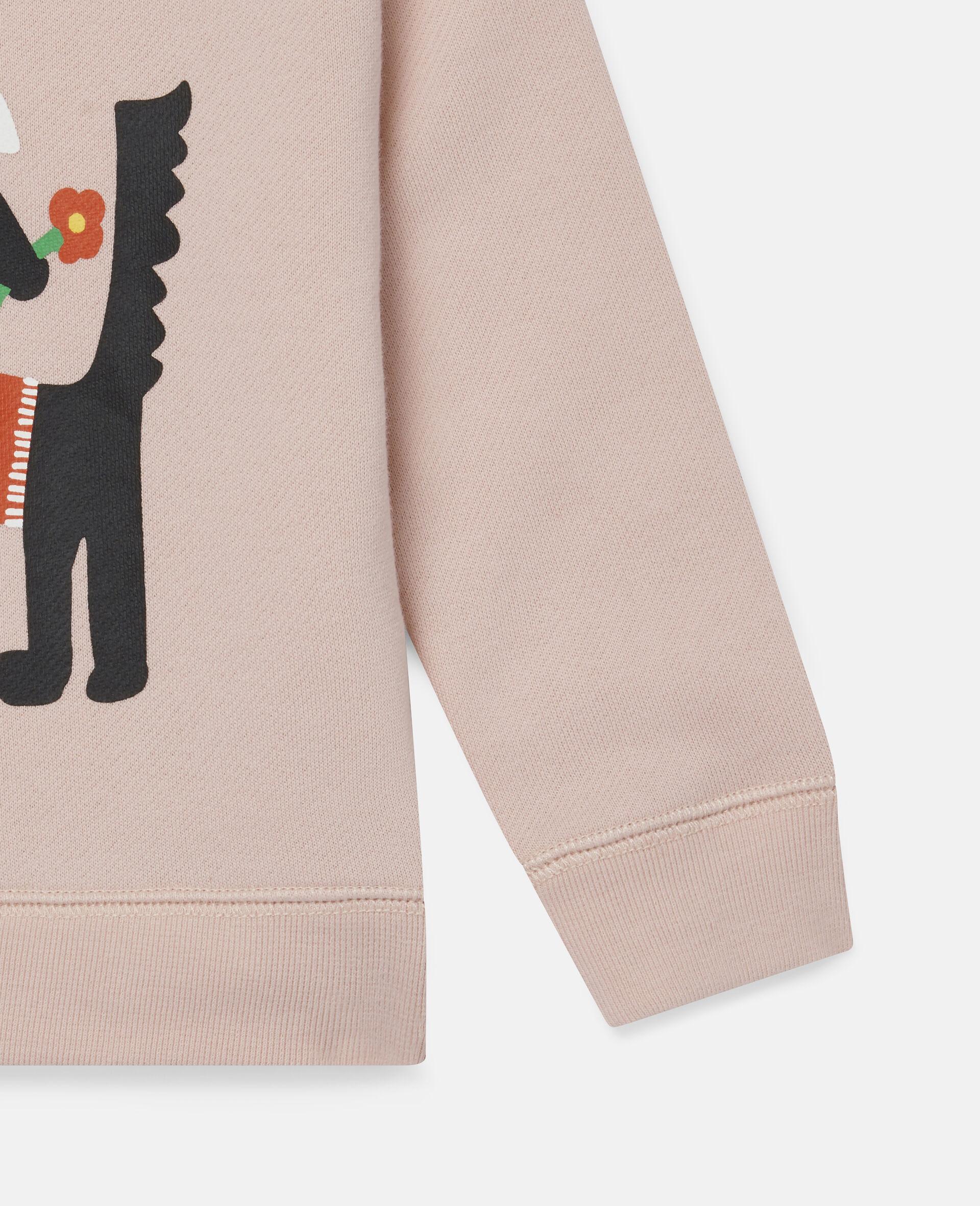 Sissy Dog Fleece Sweatshirt-Pink-large image number 2