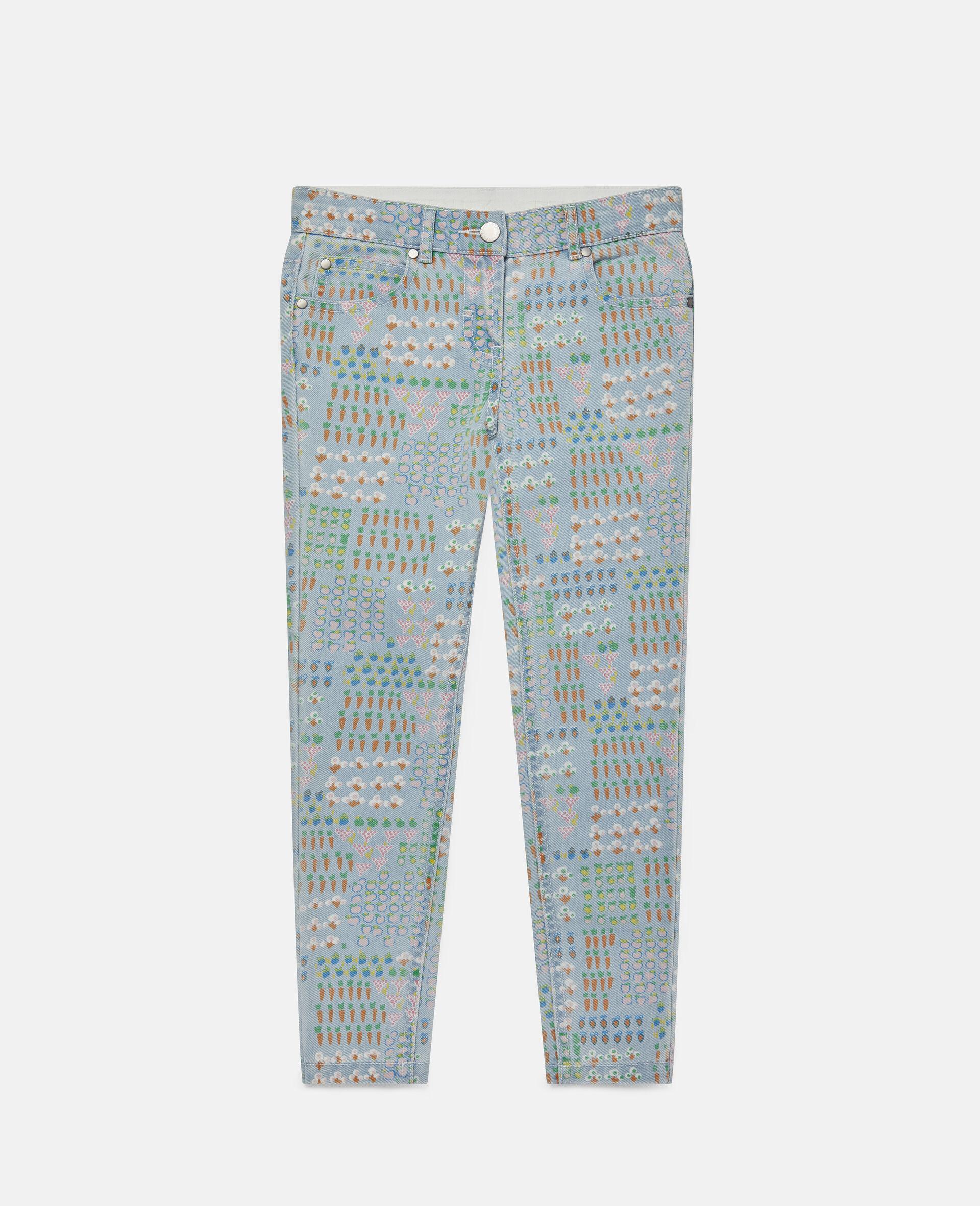 Garden Denim Trousers -Multicolour-large image number 0