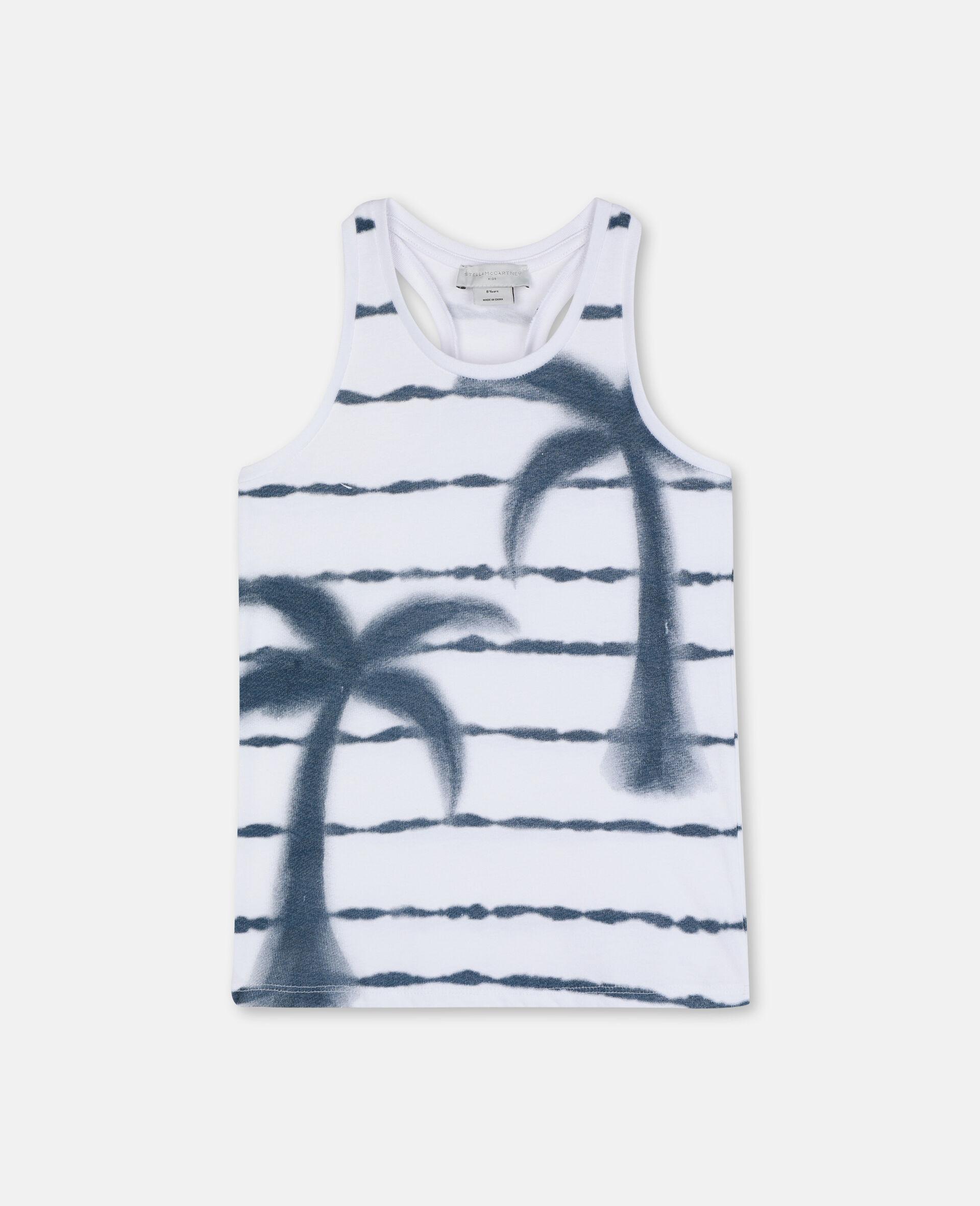 Débardeur en coton à palmier-Blanc-large image number 0
