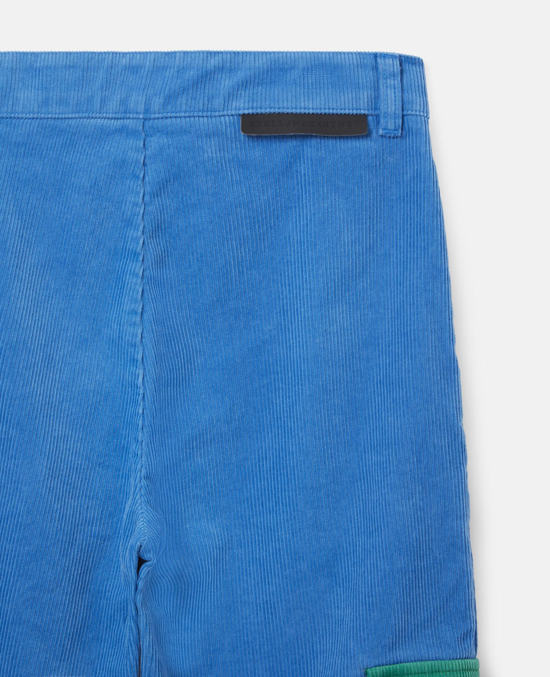Cargo Corduroy Pants-Blue-large image number 2