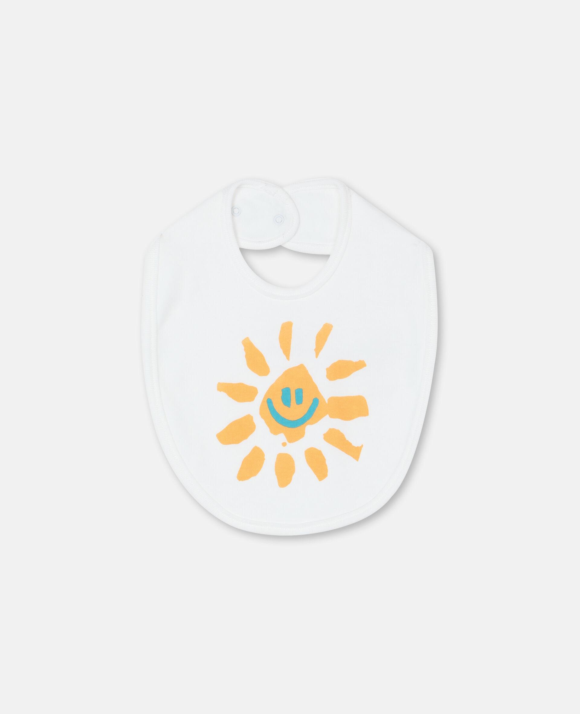 """""""Happy Sun"""" Lätzchen-Set aus geripptem Jersey -Gelb-large image number 1"""