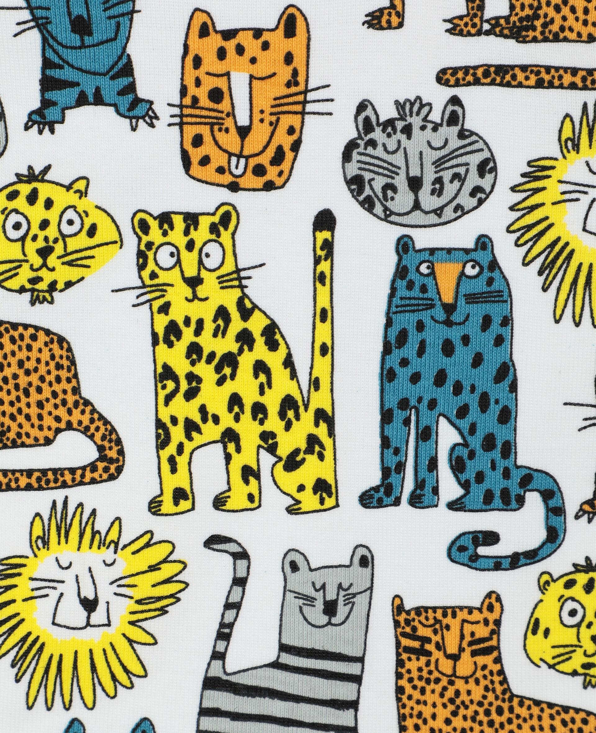 Lätzchen-Set aus geripptem Jersey mit Wildkatzen-Print -Bunt-large image number 2