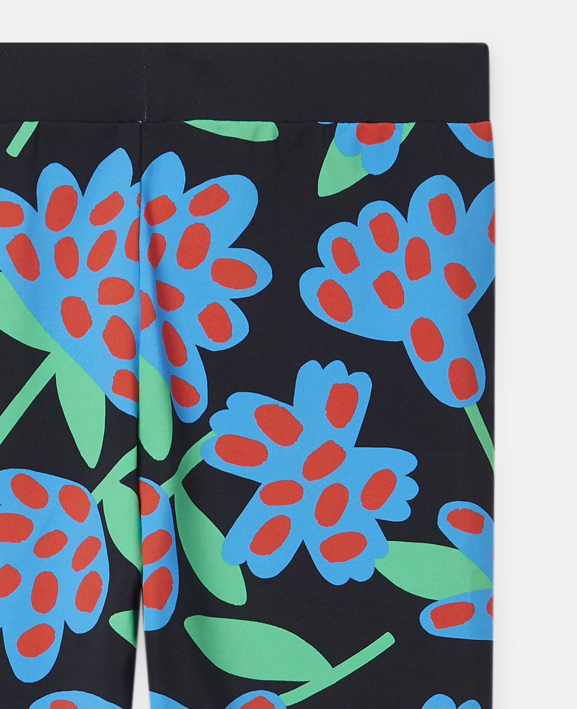 Übergroße Leggings mit gepunkteten Blumen-Bunt-large image number 2