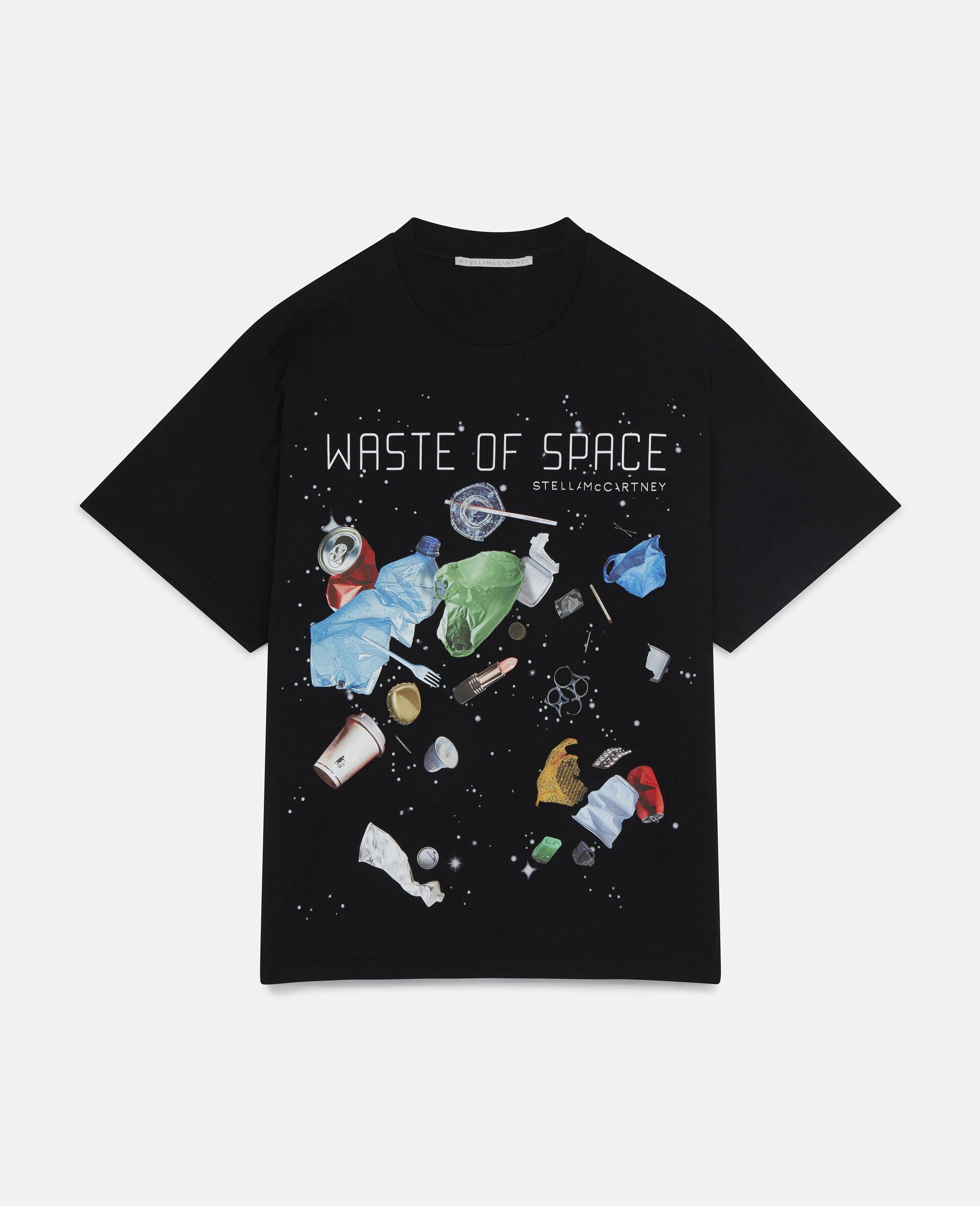 Waste Of Space' T-Shirt-Black-large image number 0