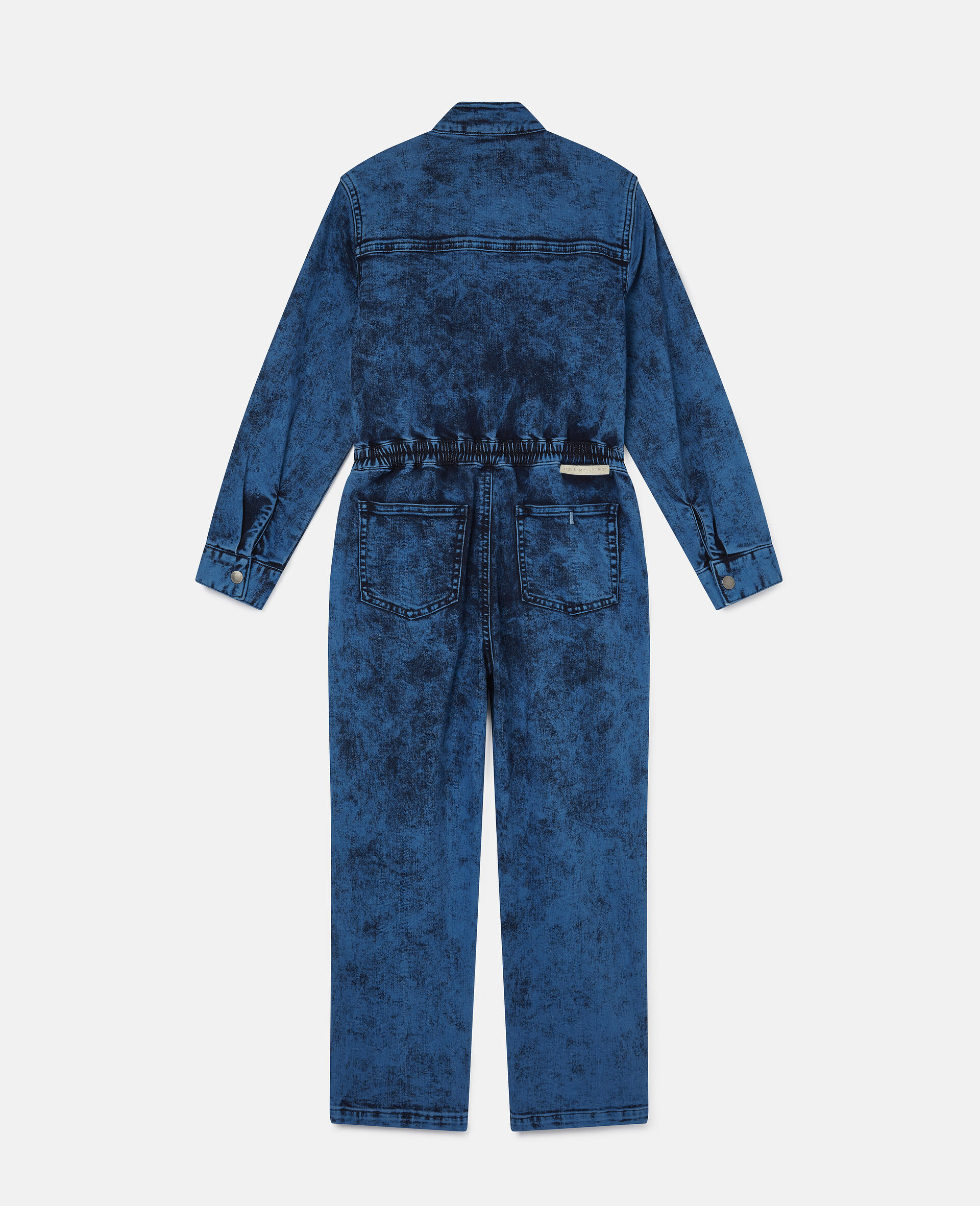 Combinaison en denim-Bleu-large image number 3