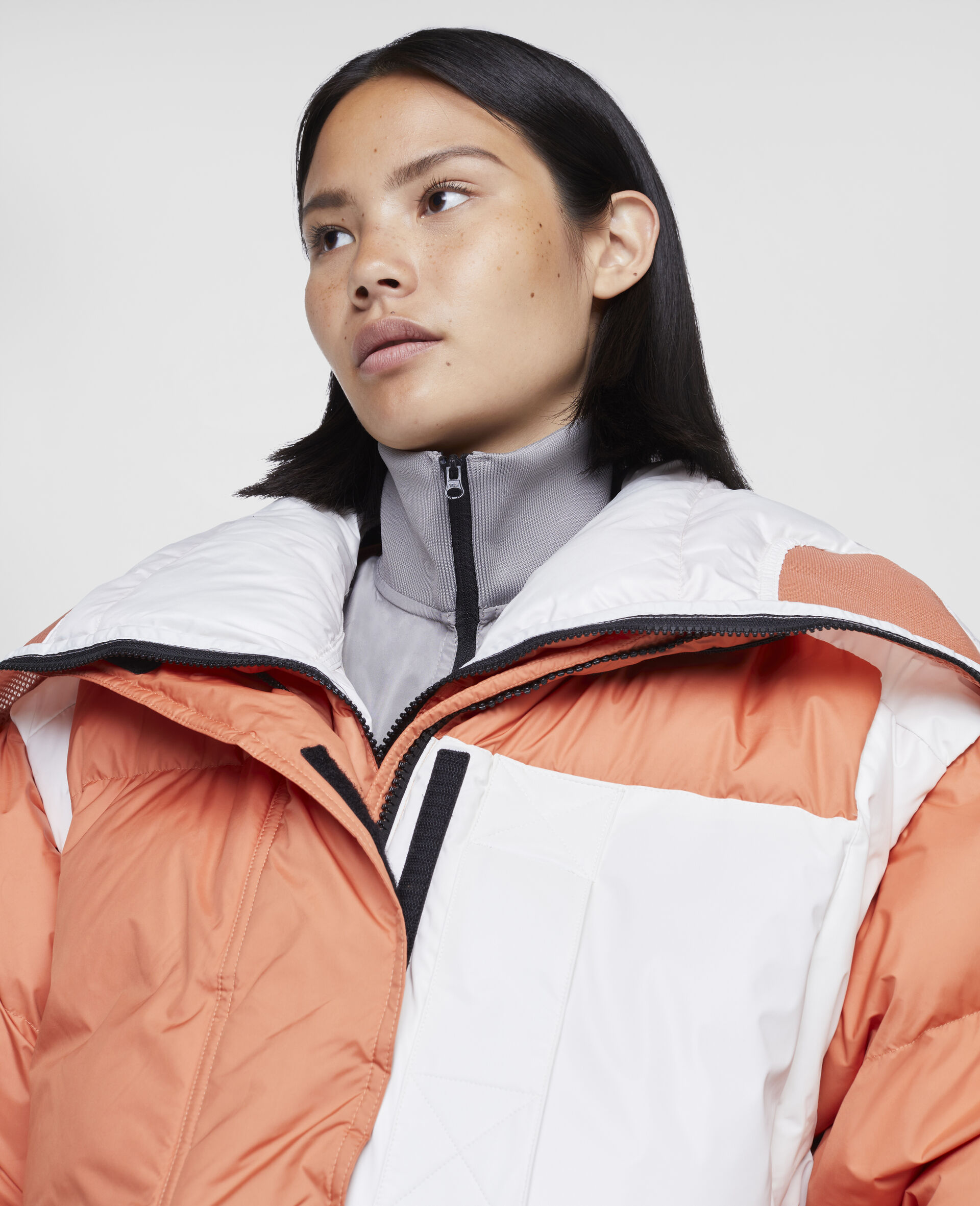 Dusted Clay and White Earth Protector Puffer-Orange-large image number 3