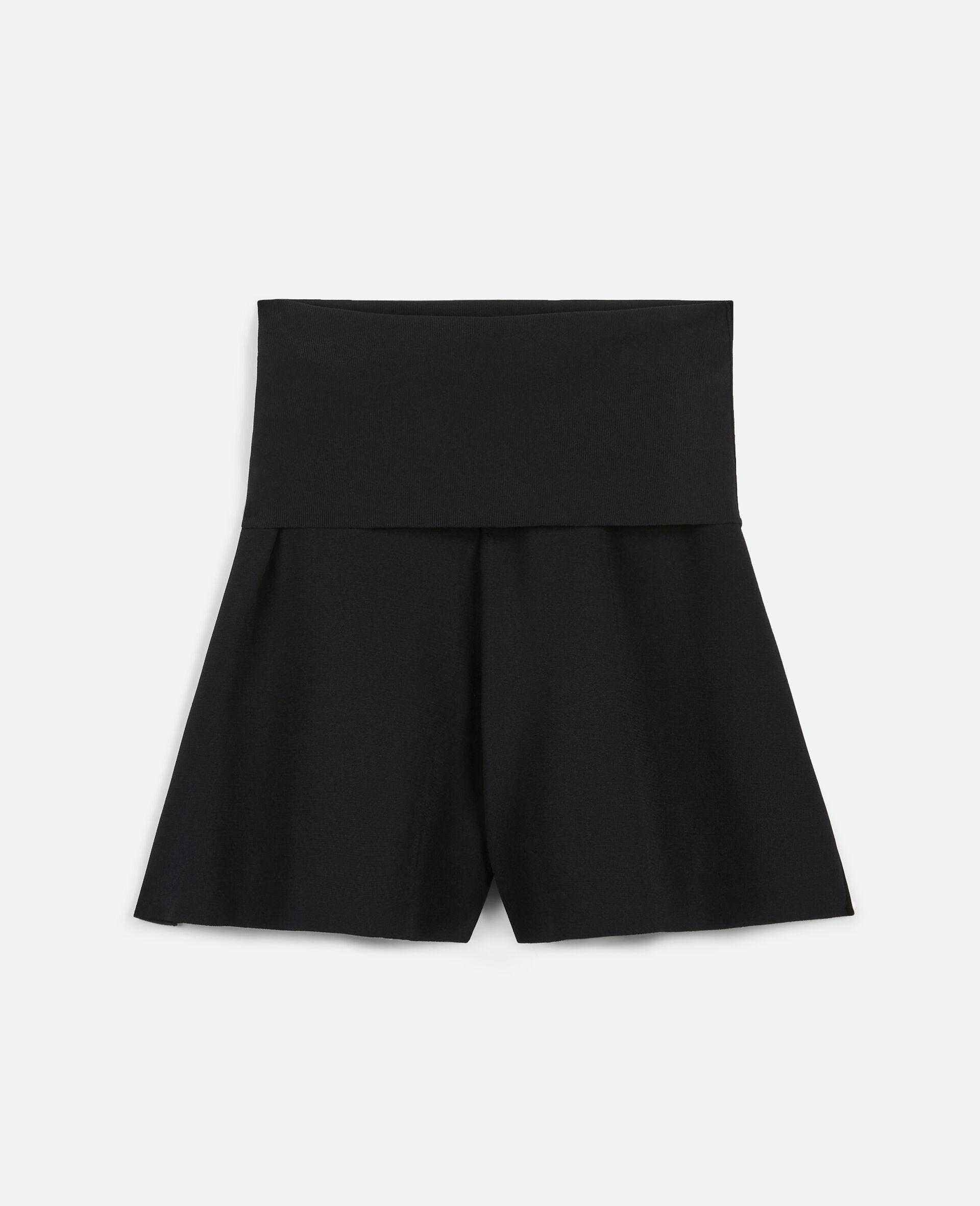 Shorts aus kompaktem Strick-Schwarz-large image number 0