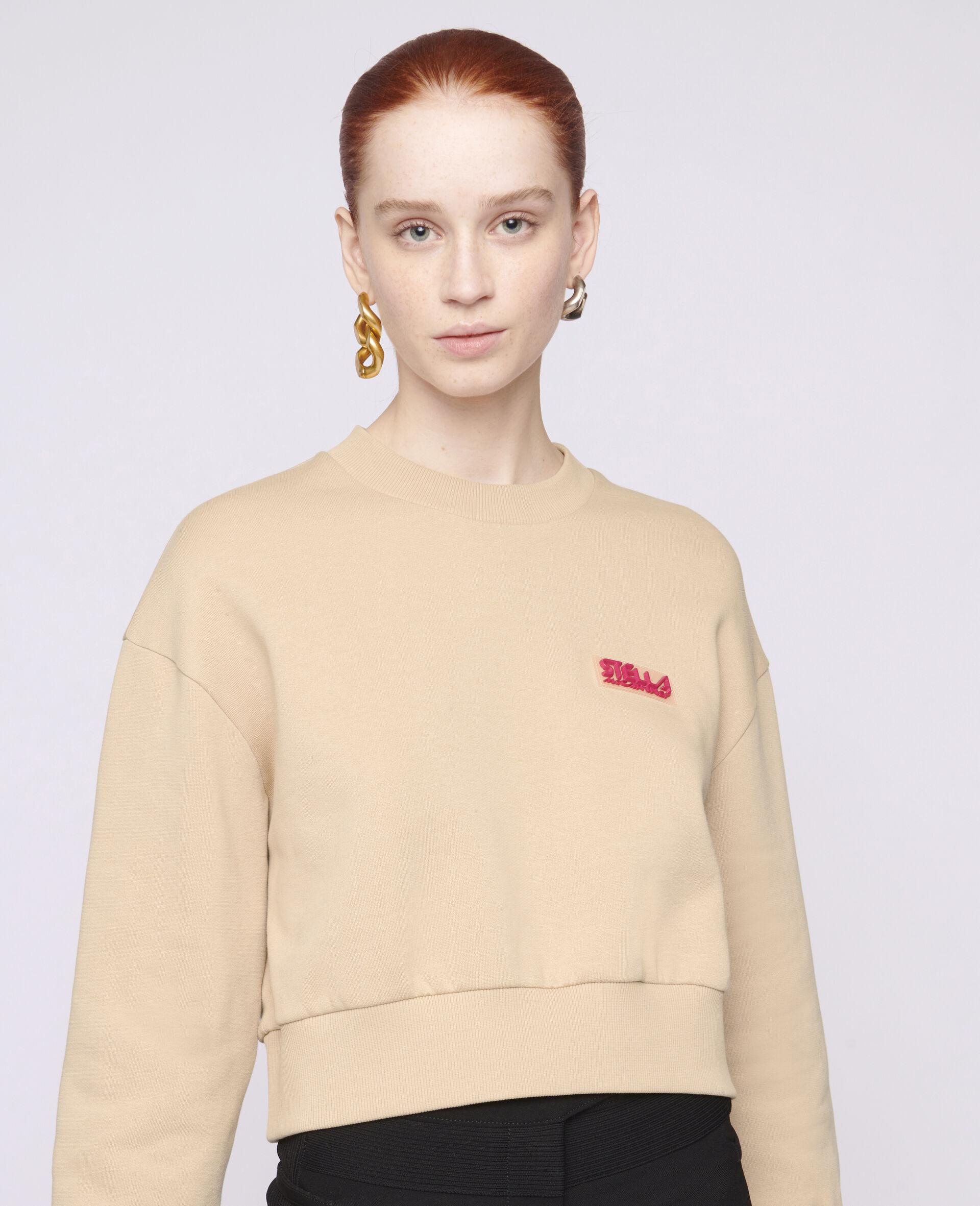 Baumwoll-Sweatshirt mit Logo-Brown-large image number 3