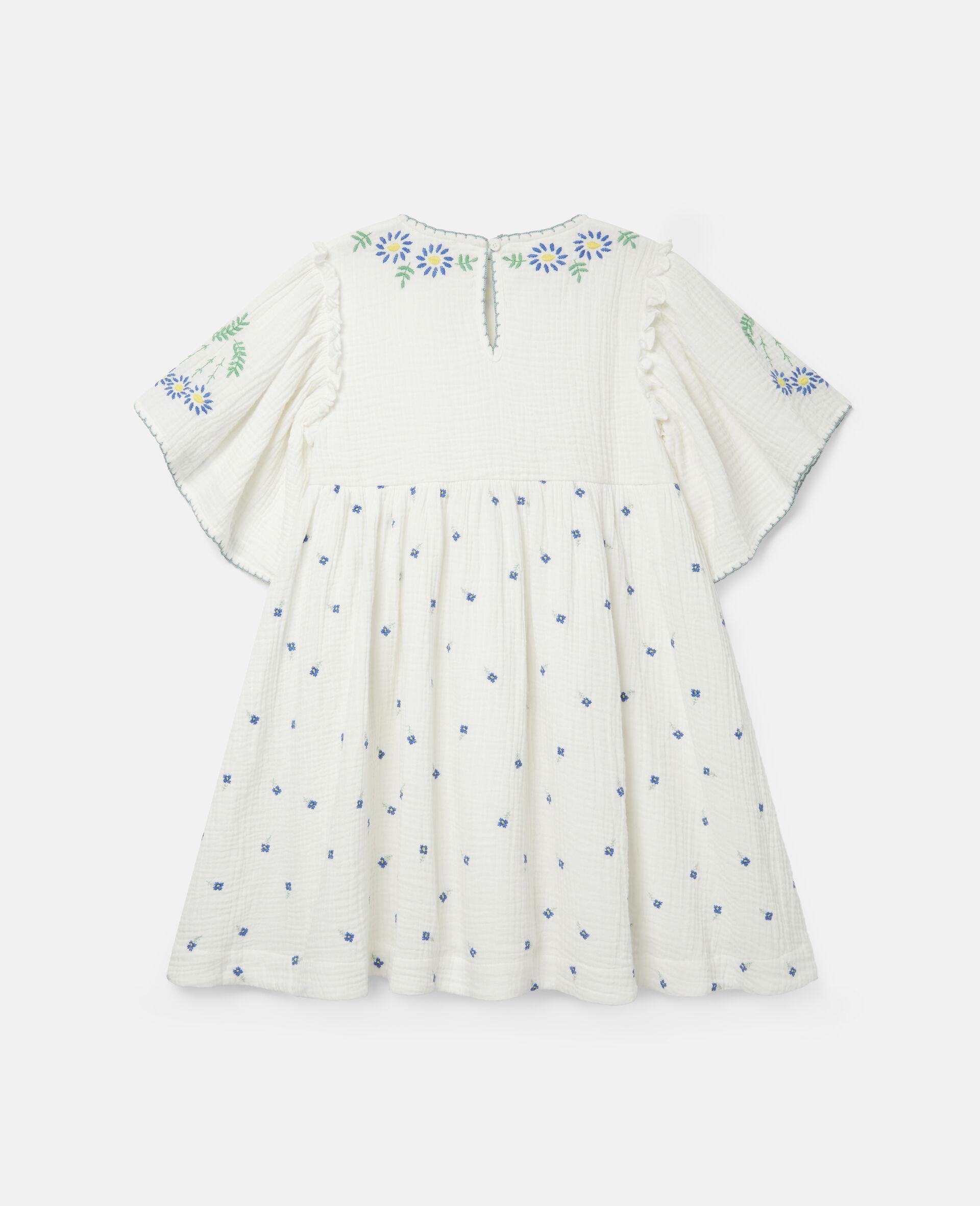 Baumwoll-Kleid mit Blumenstickerei-Weiß-large image number 3