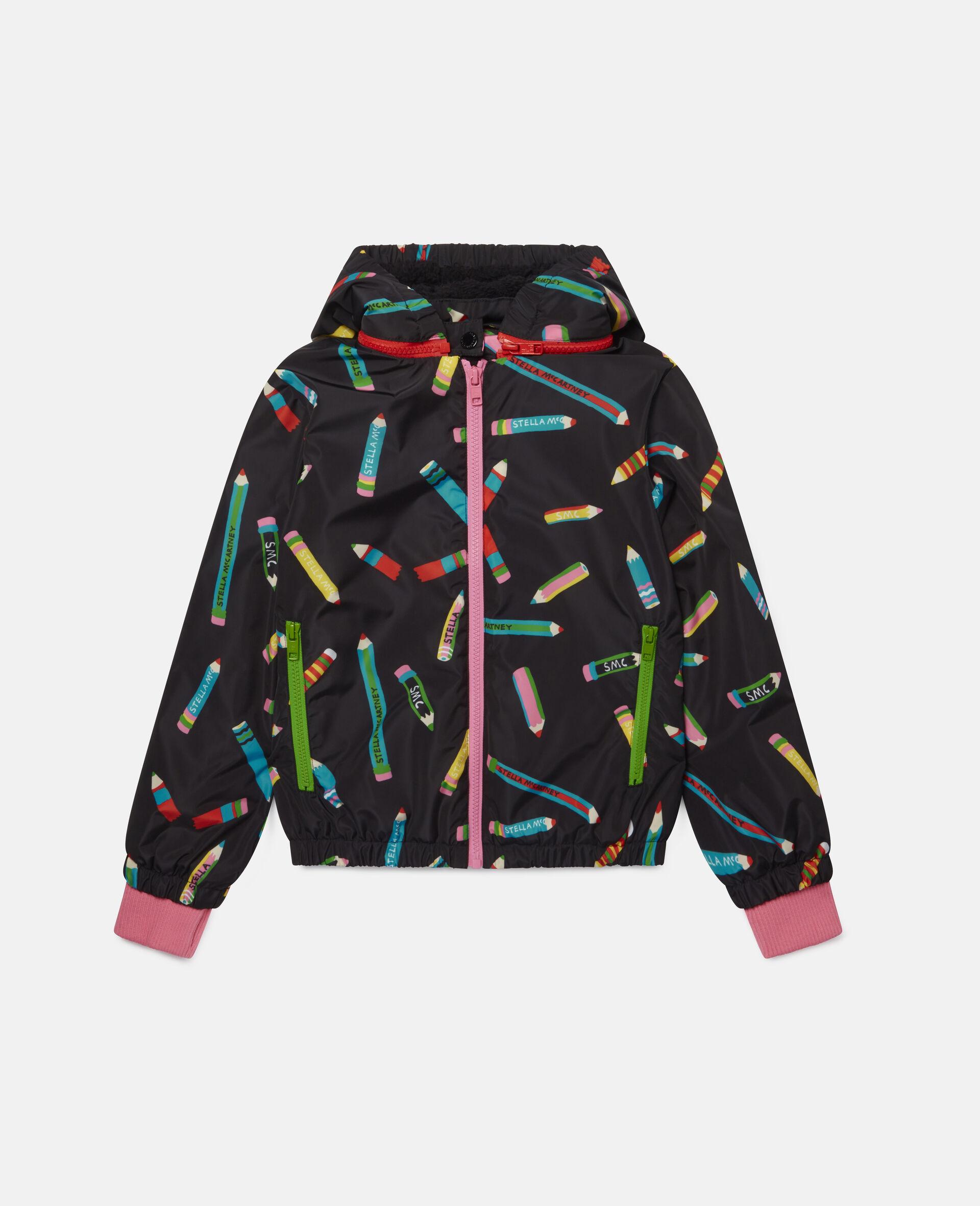 Pencils Hooded Jacket -Black-large image number 0