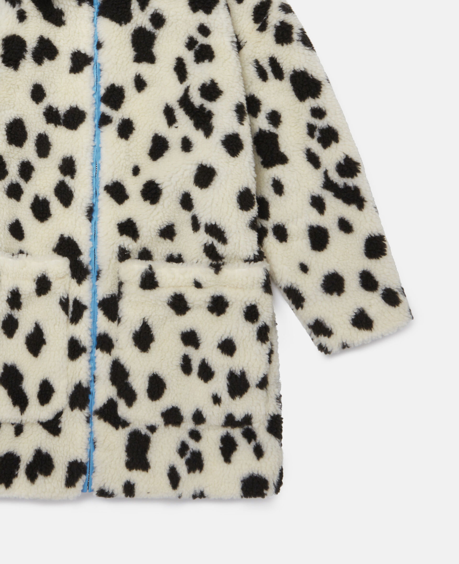 Cappotto in Teddy Maculato-Bianco-large image number 2