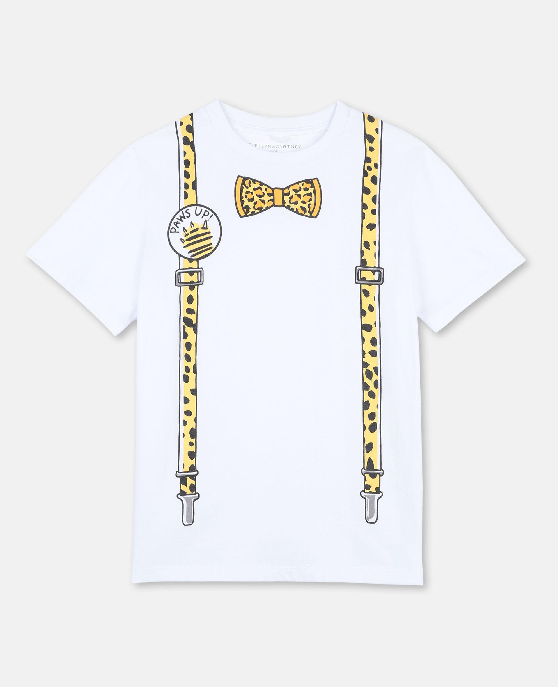Braces Cotton T-shirt -White-large image number 0