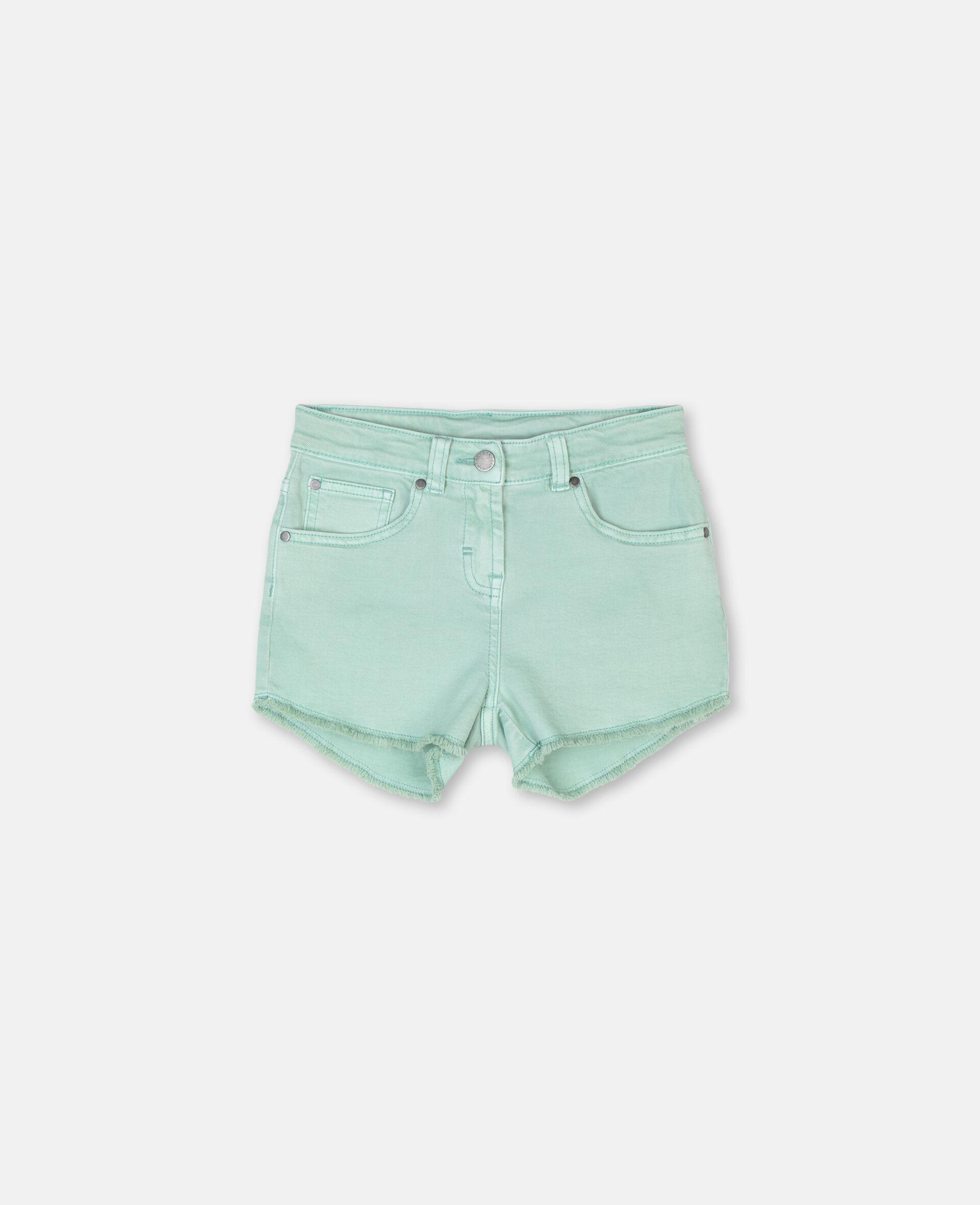 Denim Mint Shorts -Green-large image number 0