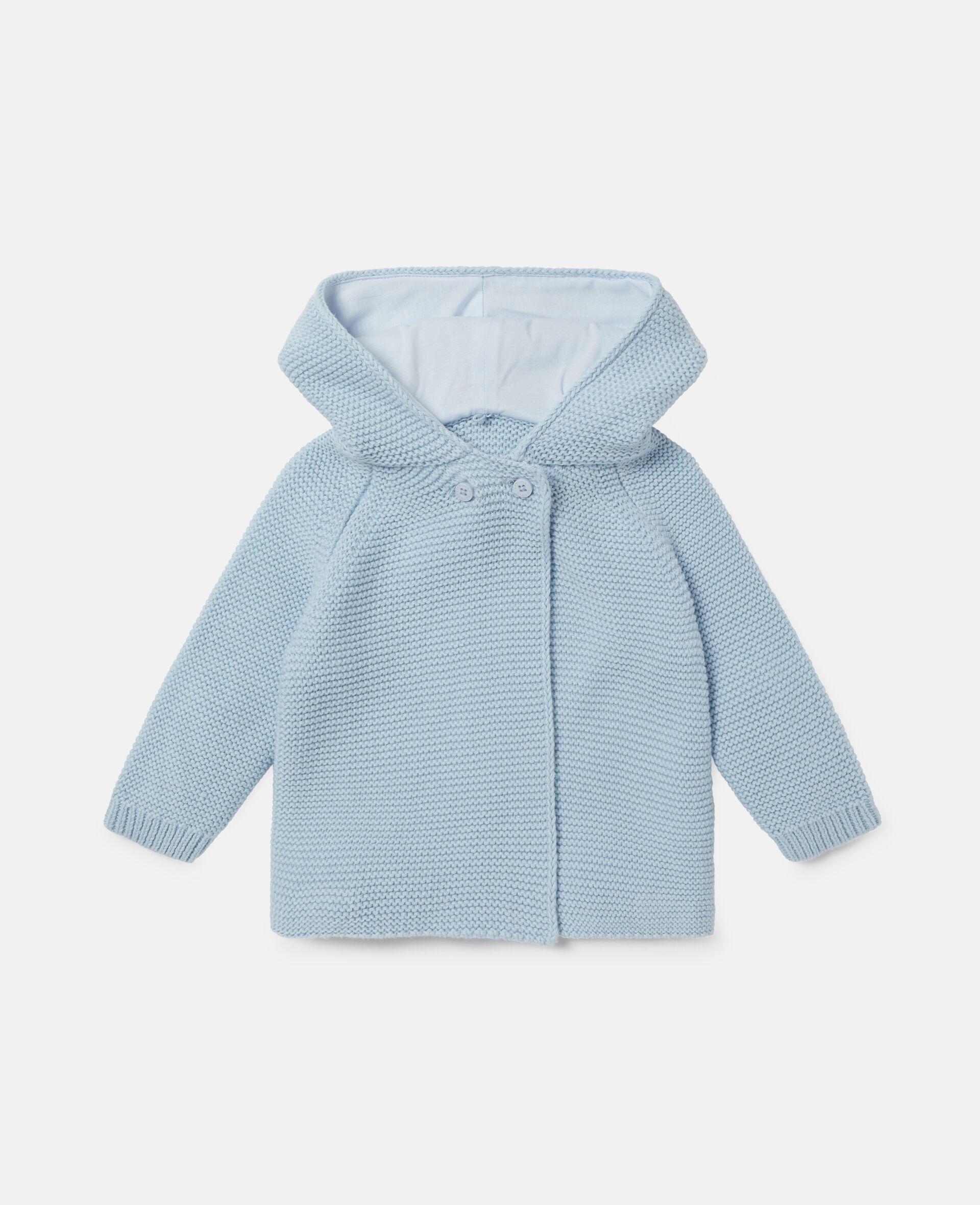 Doggie Knit Cardigan-Blue-large image number 0