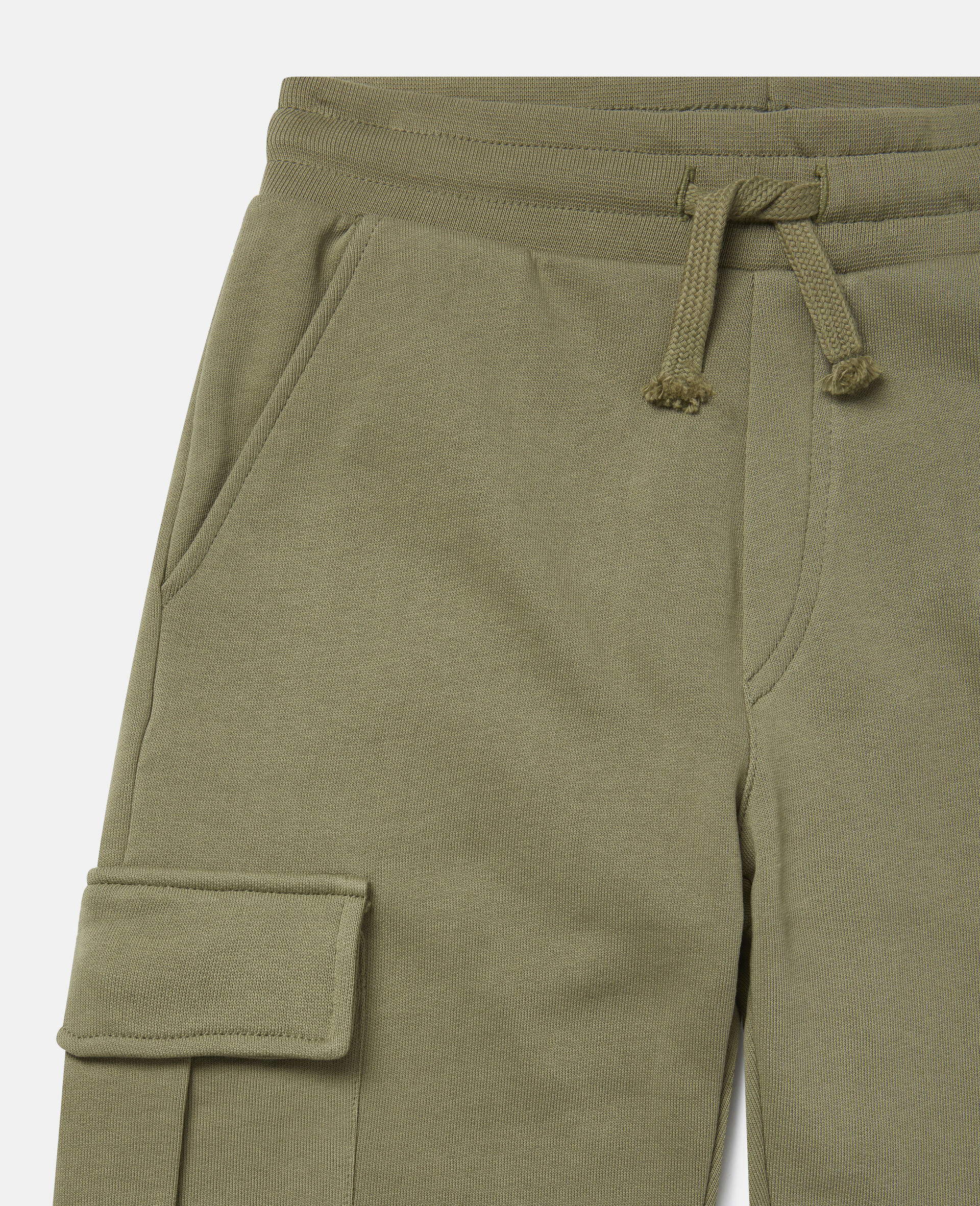 Cargo Fleece Joggers-Green-large image number 2